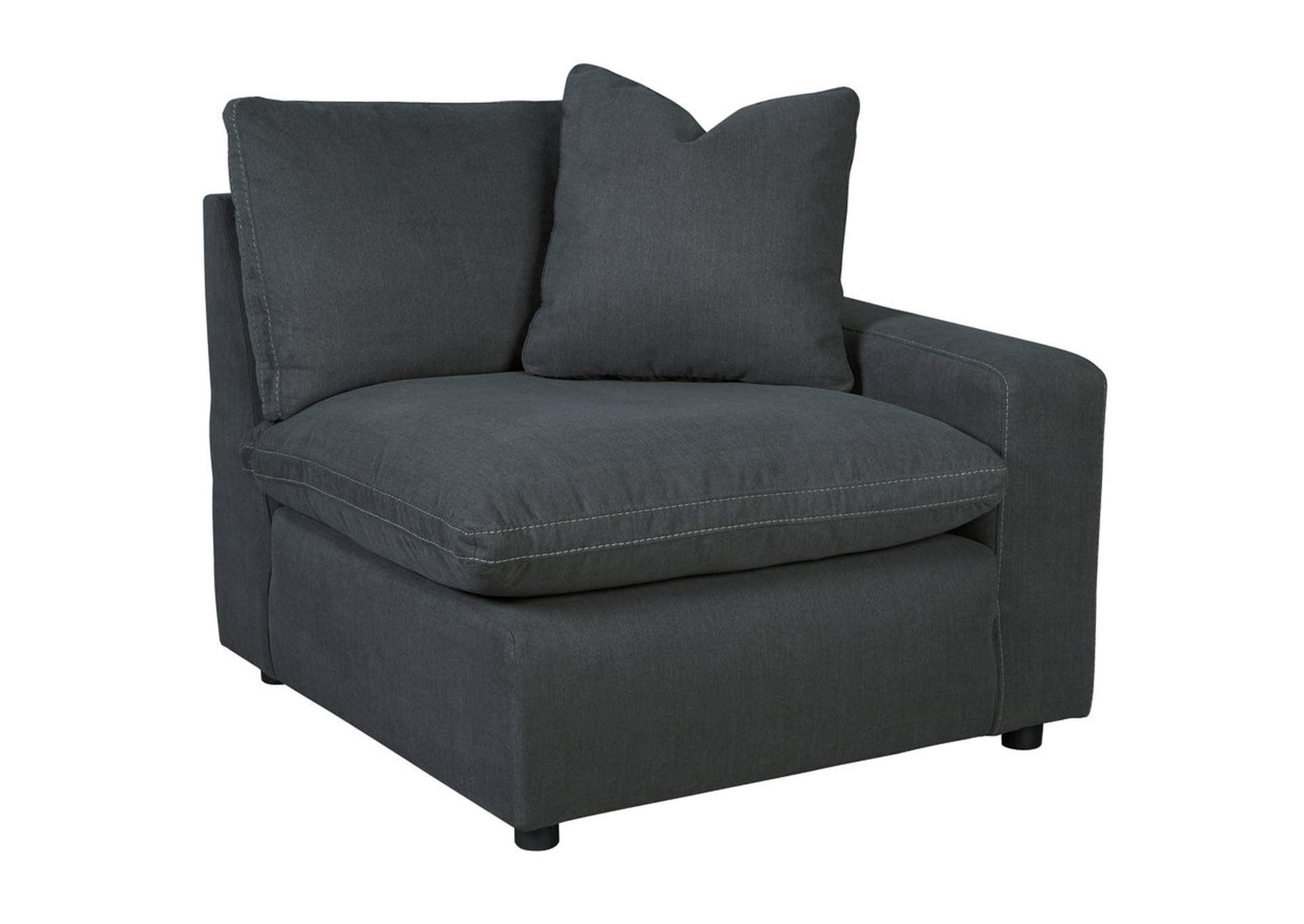 Bedroom Sofa Savesto Charcoal Raf Corner Chair