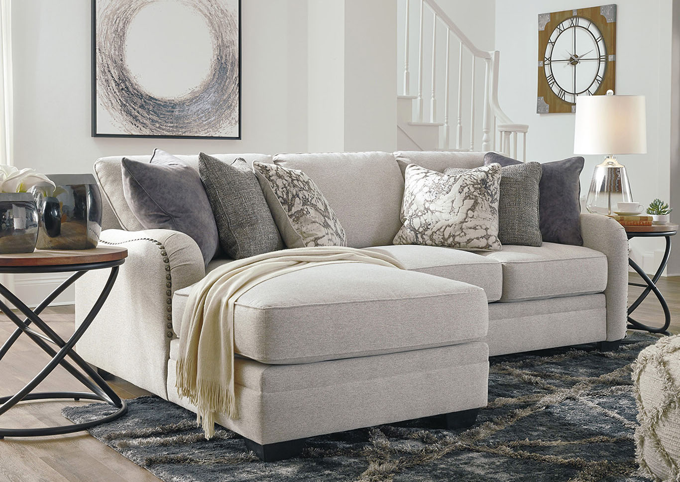 Dellara Chalk Sectional w/LAF Chaise,Benchcraft