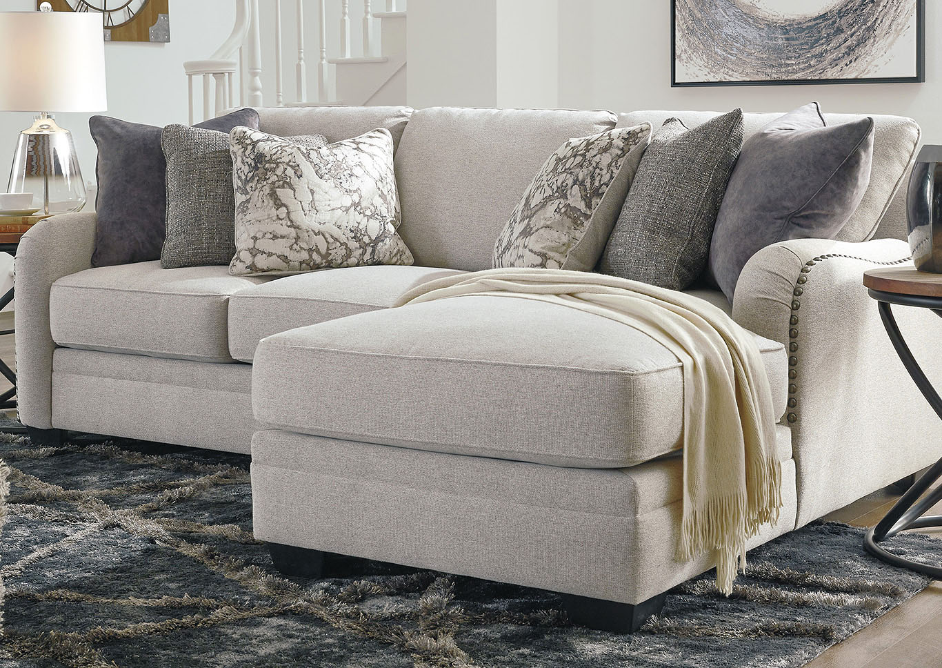 Dellara Chalk Sectional w/RAF Chaise,Benchcraft