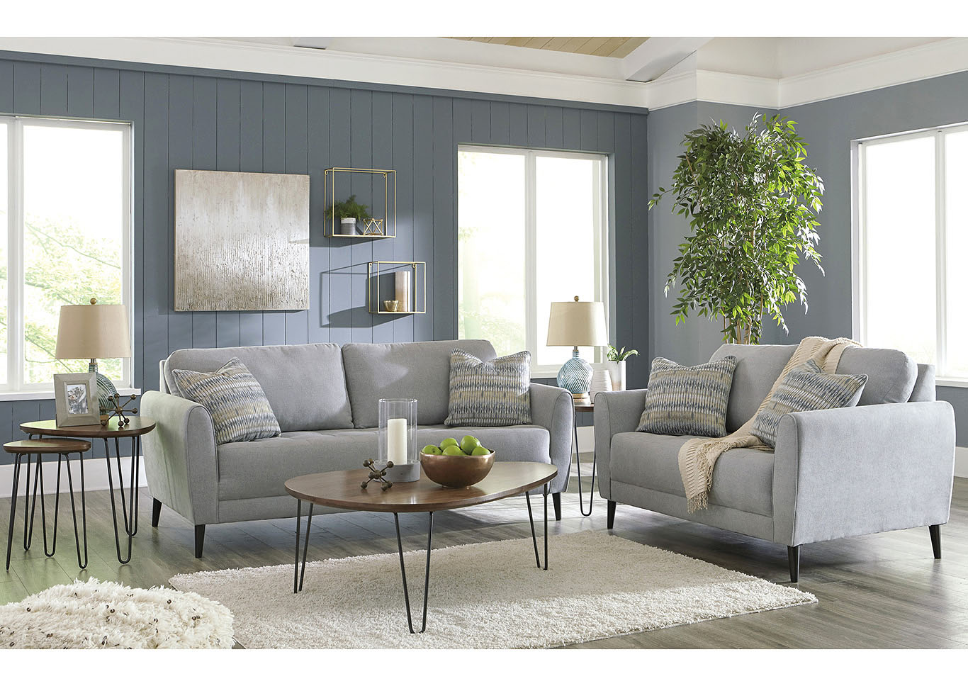 Cardello Pewter Sofa & Loveseat,Signature Design By Ashley