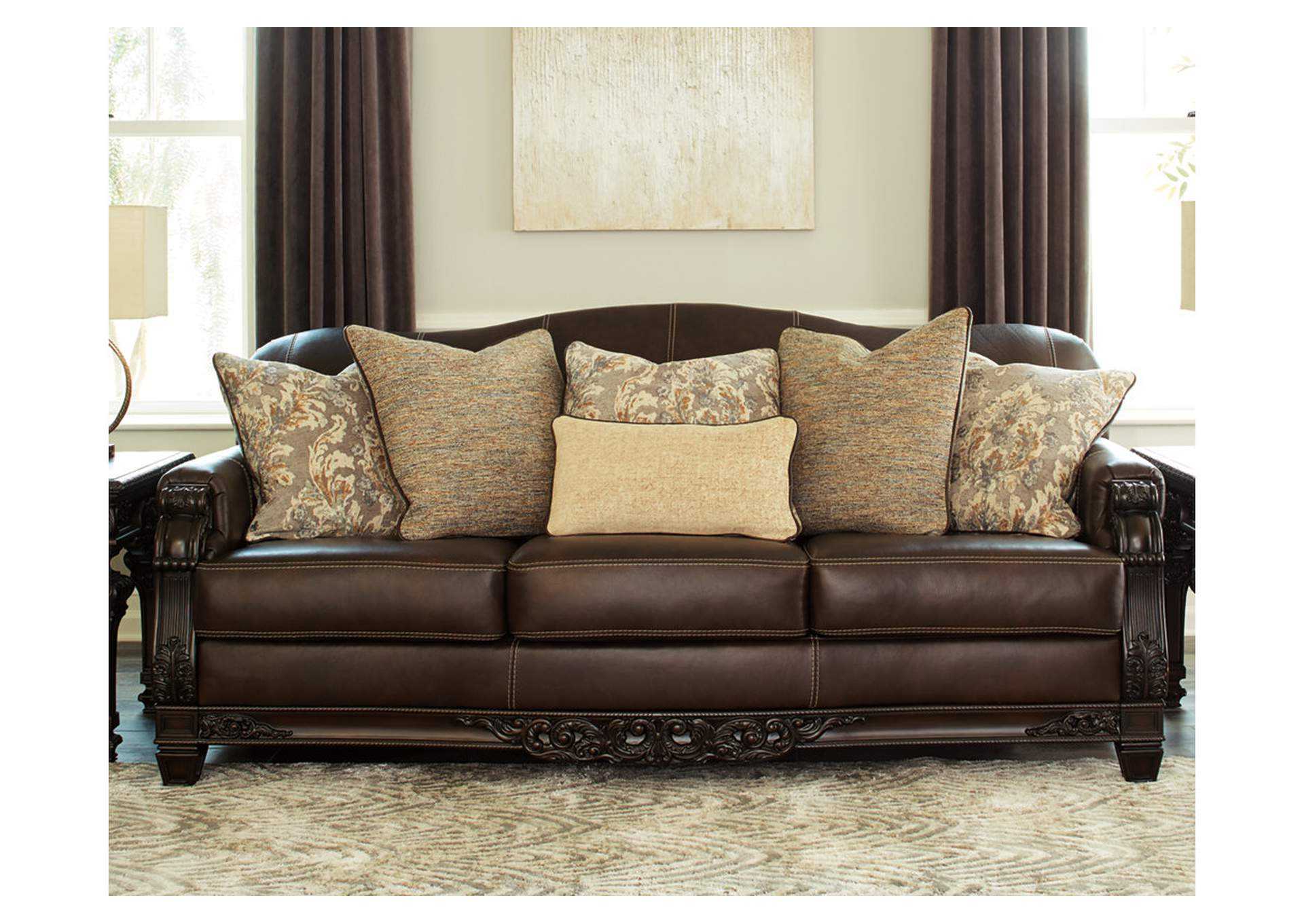 Embrook Chocolate Sofa,Signature Design By Ashley