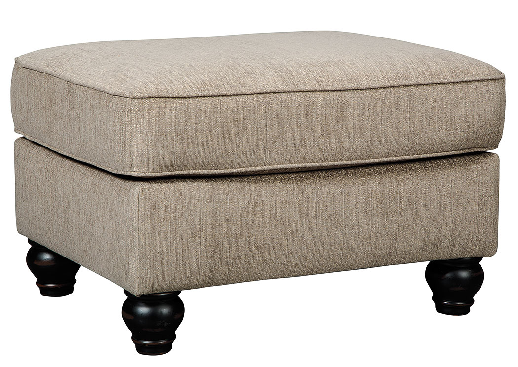 Room By Room Blackwood Taupe Ottoman