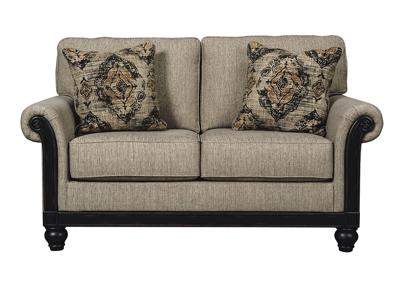 Compass Furniture Blackwood Taupe Loveseat