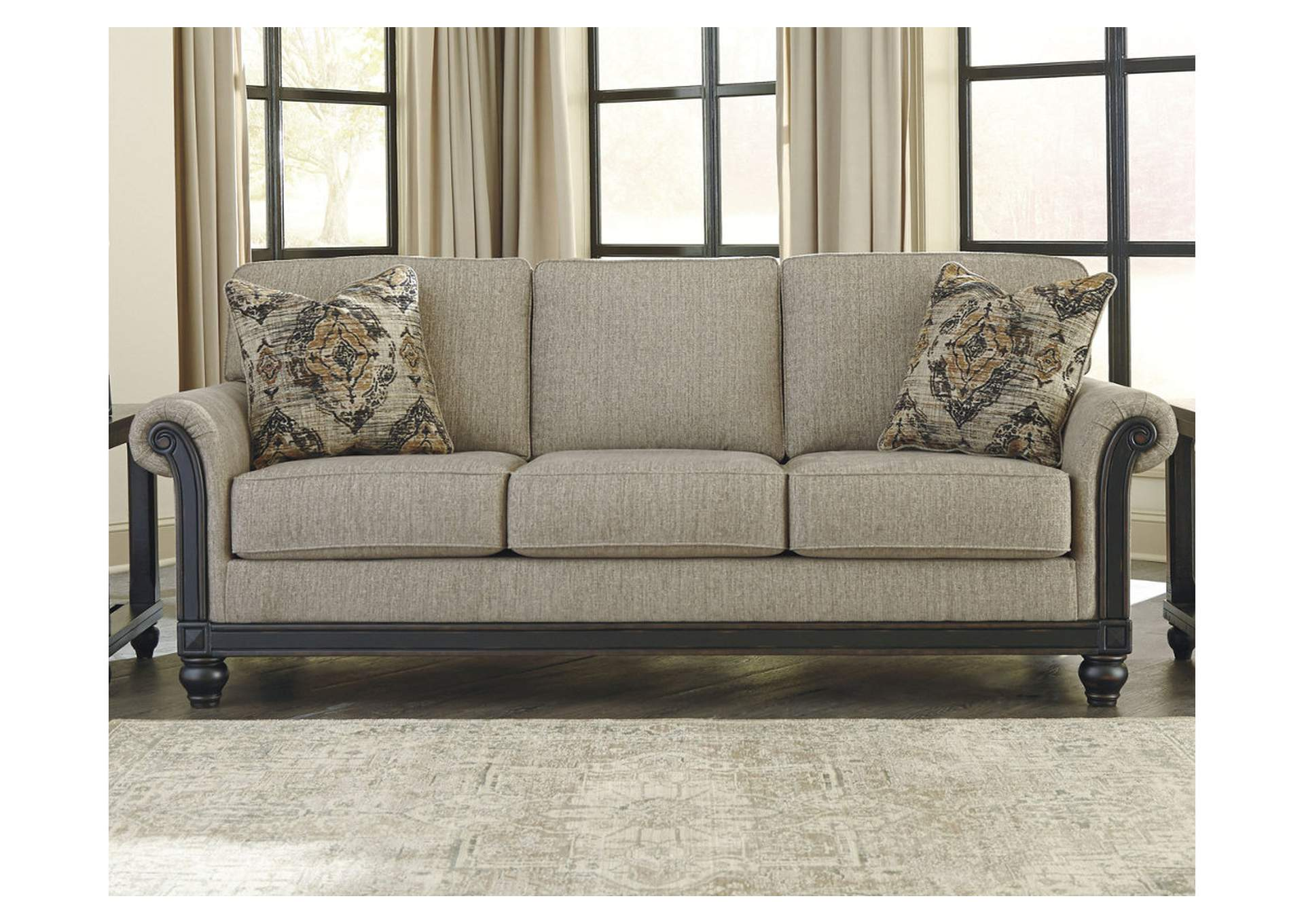 Ivan Smith Blackwood Taupe Queen Sofa Sleeper