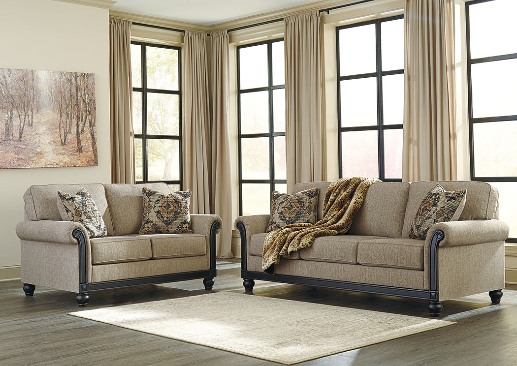 Blackwood Taupe Sofa and Loveseat,Signature Design By Ashley