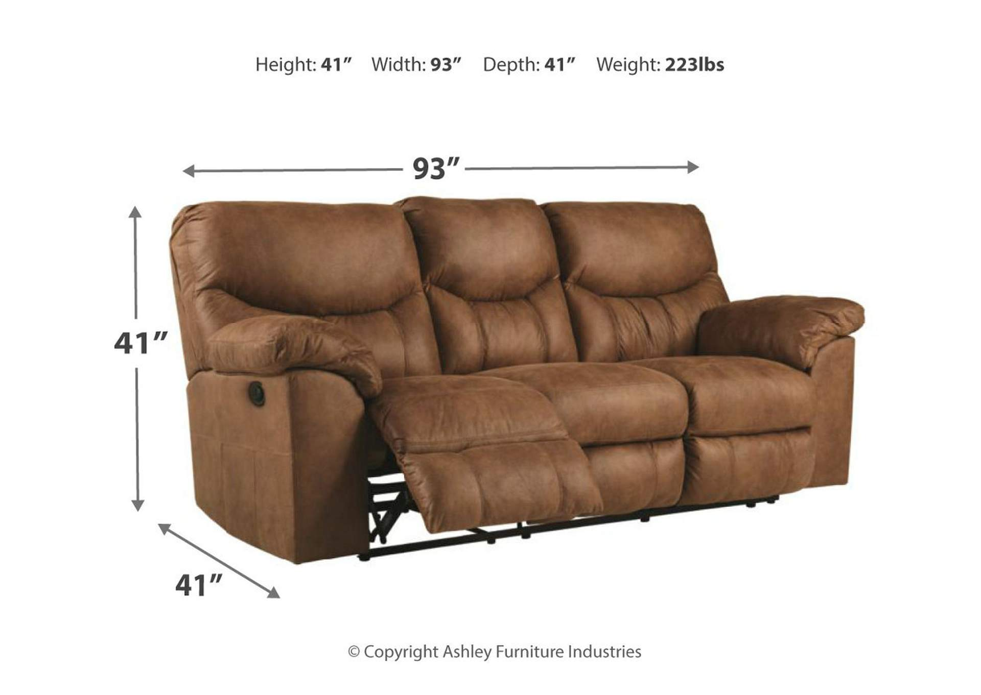 Boxberg Bark Reclining Power Sofa,Signature Design By Ashley