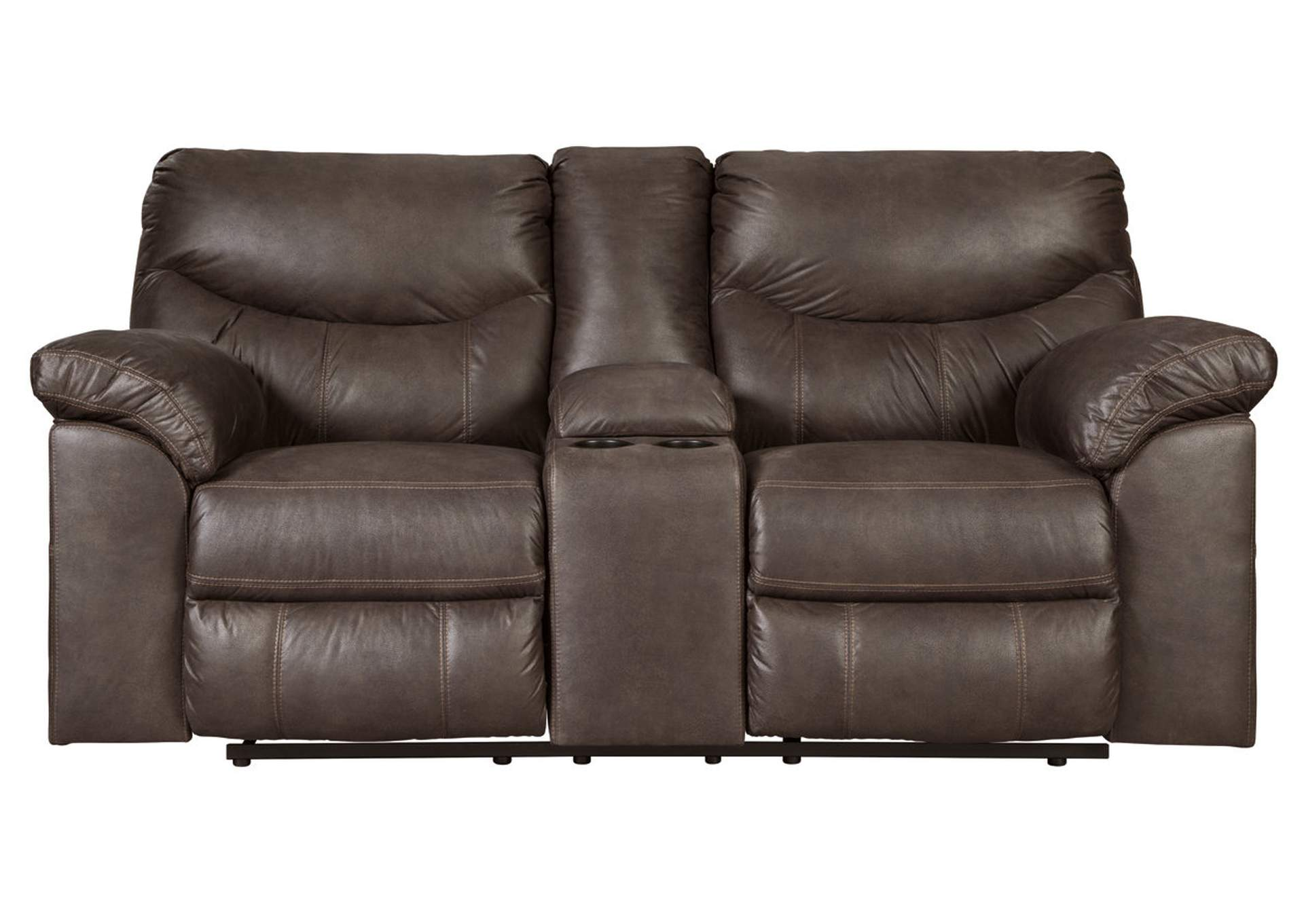 Boxberg Teak Double Reclining Loveseat w/Console,Signature Design By Ashley