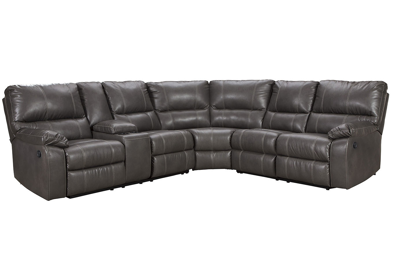 Country House Furniture Warstein Gray Power Reclining Sectional W