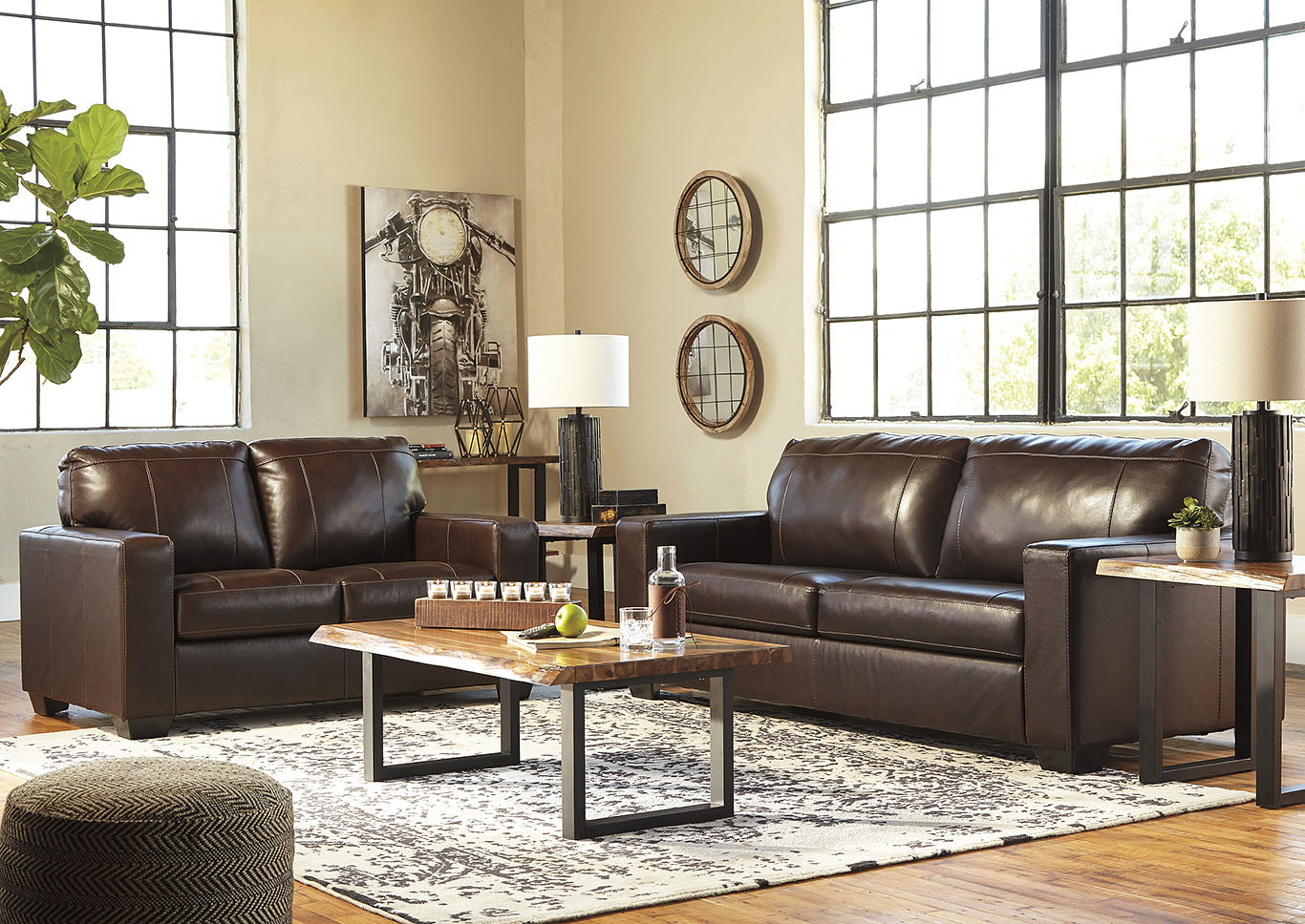 Morelos Chocolate Sofa and Loveseat,Signature Design By Ashley