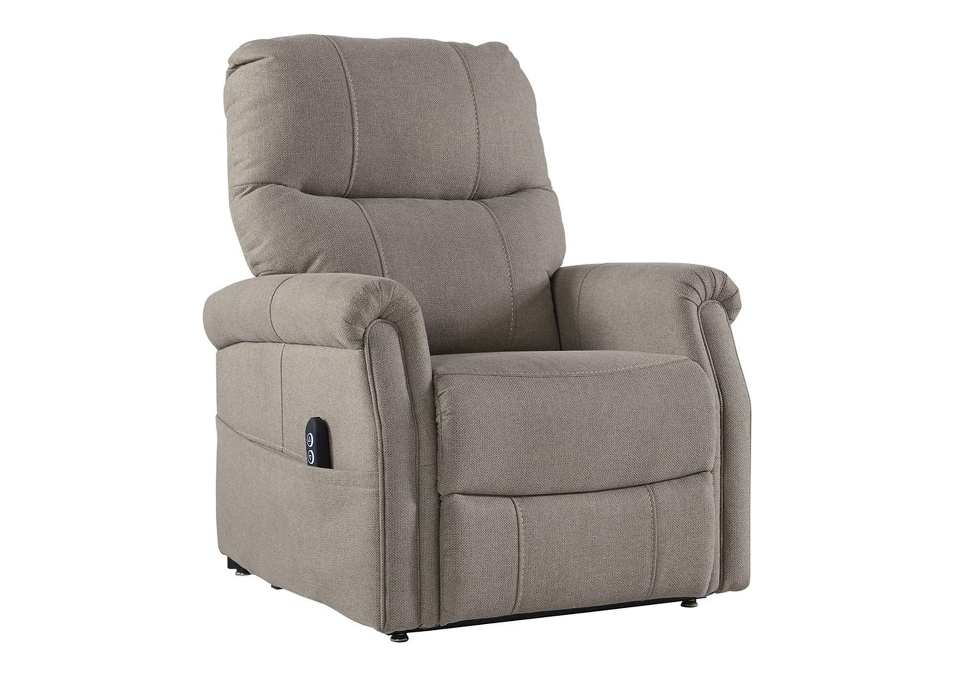 Markridge Gray Power Lift Recliner,Signature Design By Ashley
