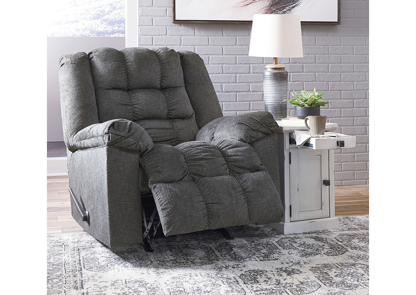 Drakestone Charcoal Rocker Recliner,Signature Design By Ashley