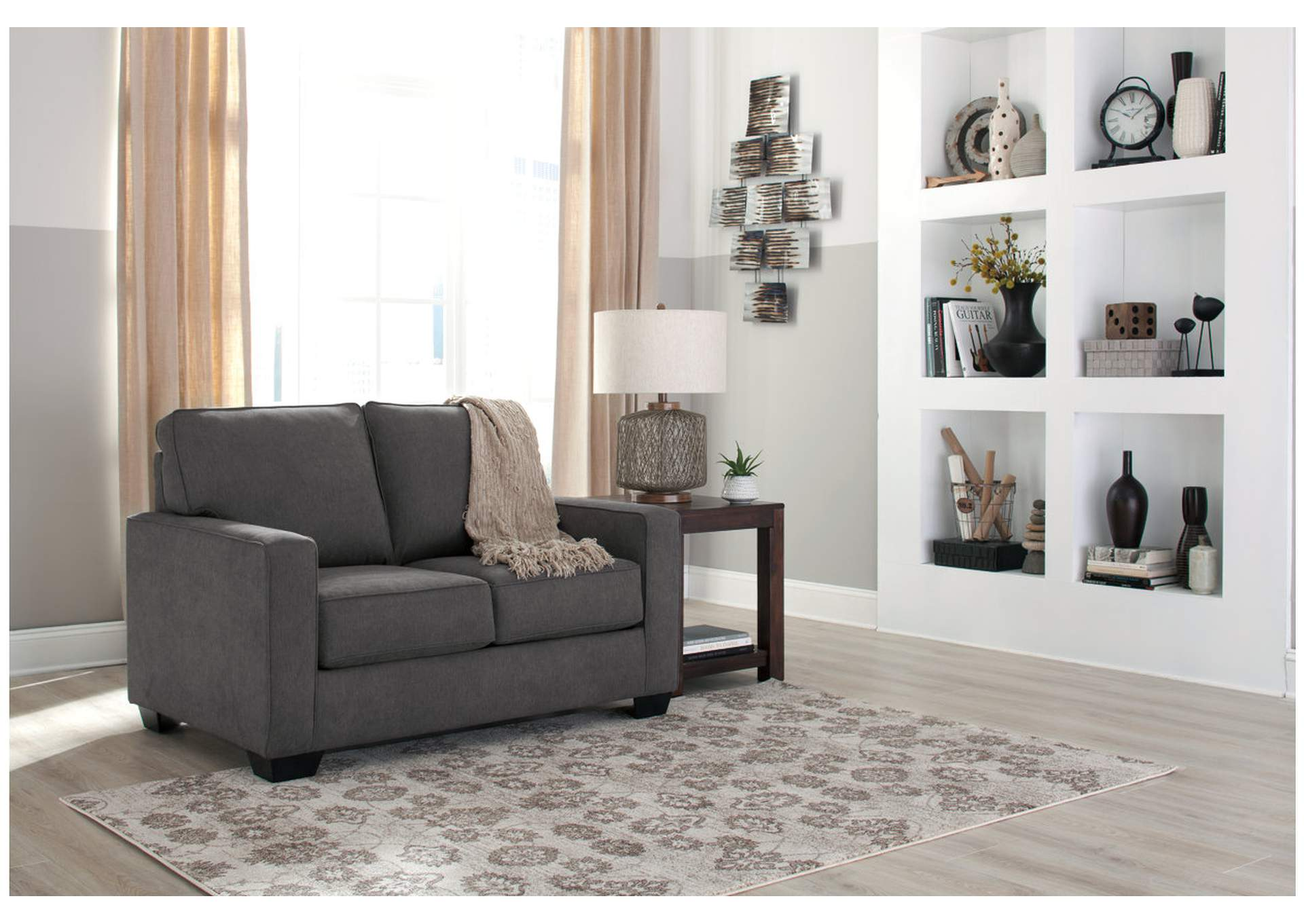 Affordable Furniture Carpet Chicago Il Zeb Charcoal Twin Sofa