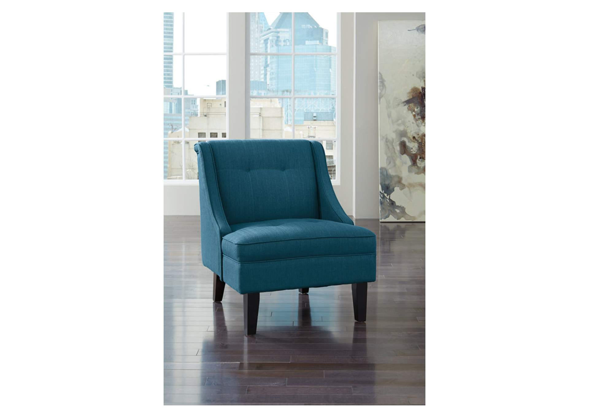 blue accent chairs for living room ivan smith clarinda blue accent chair 24036