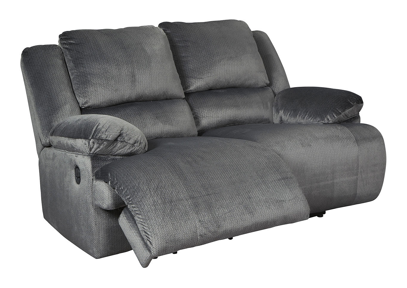 Clonmel Charcoal Power Reclining Loveseat,Signature Design By Ashley