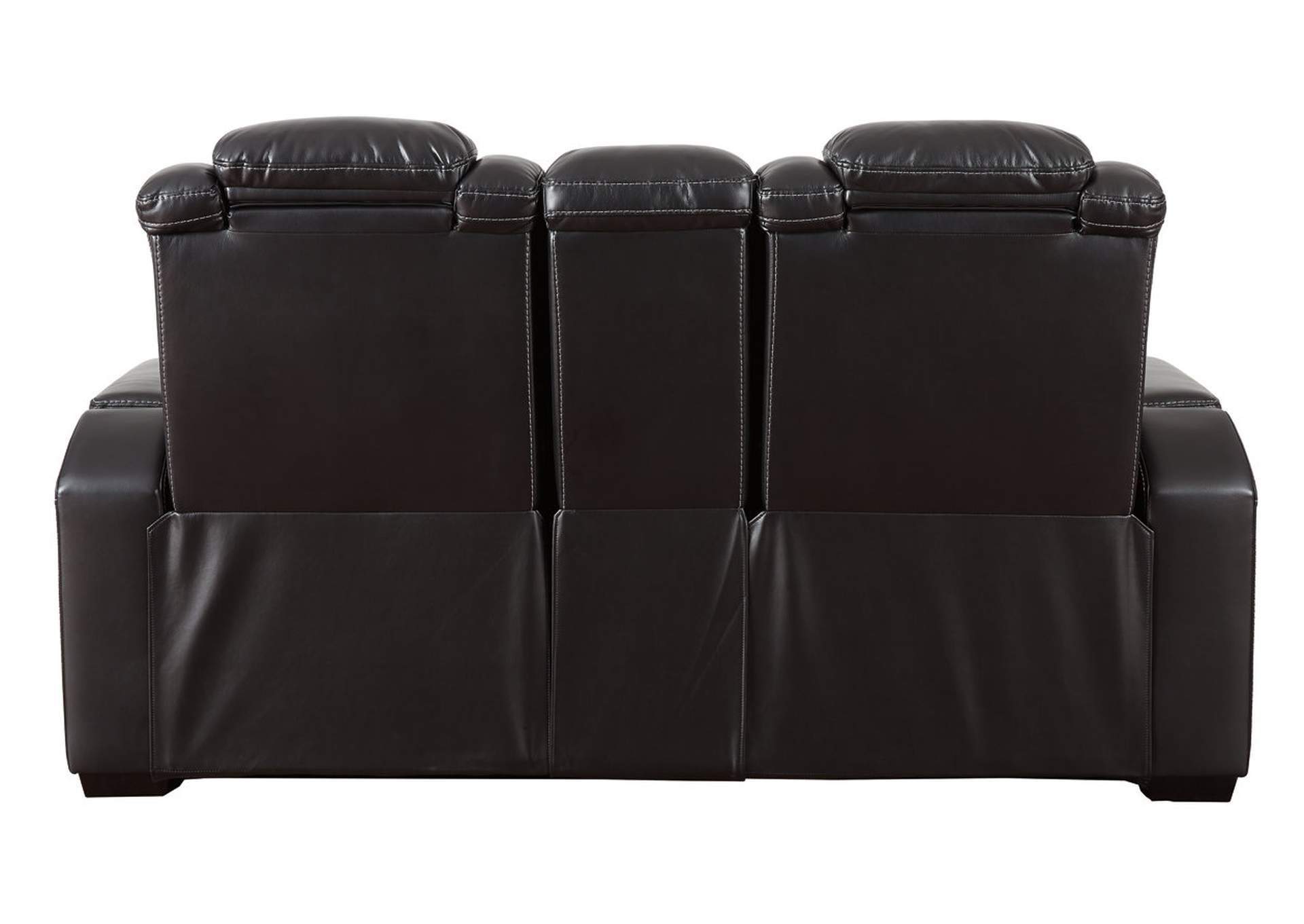 Party Time Midnight Power Reclining Loveseat w/Adjustable Headrest & Console,Signature Design By Ashley