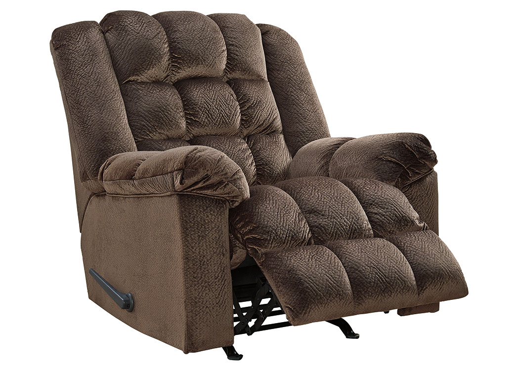 Minturn Mocha Rocker Recliner,Signature Design By Ashley