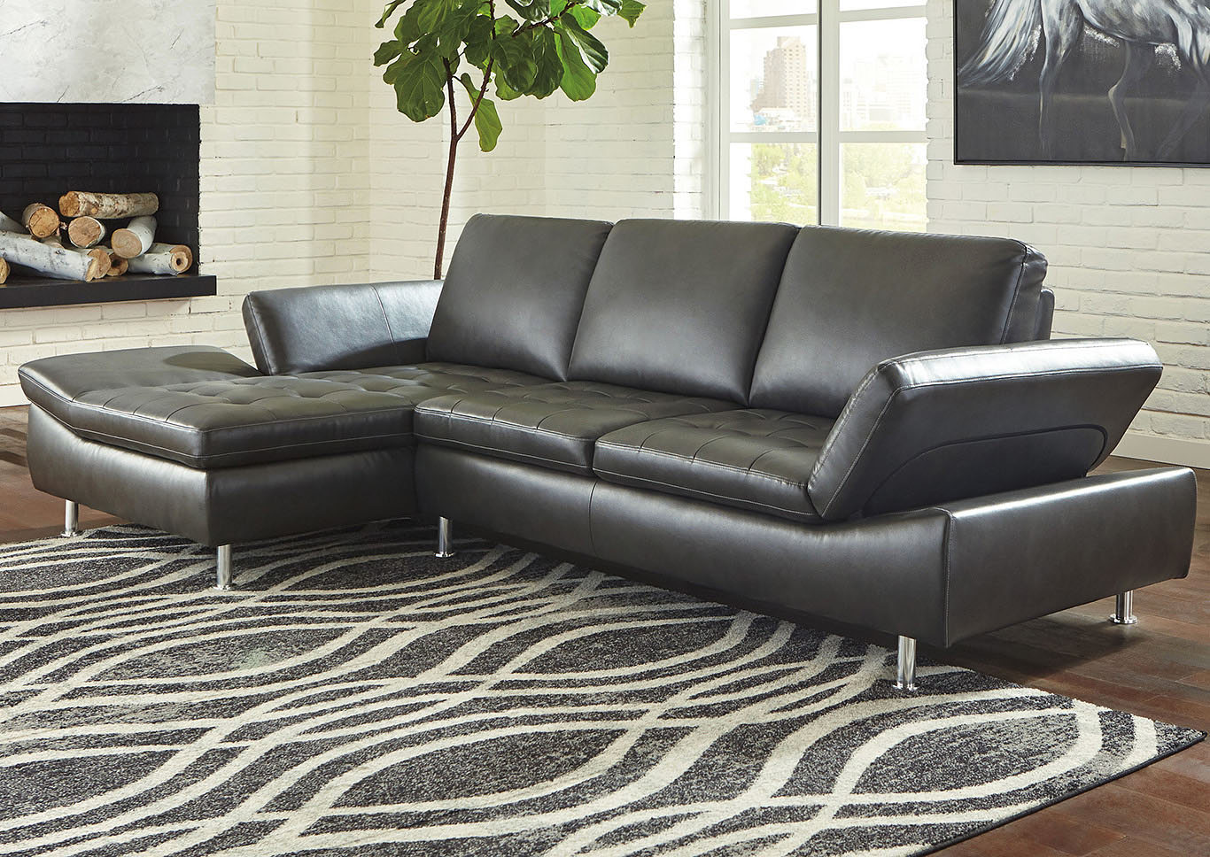 Carrnew Gray LAF Sectional,Signature Design By Ashley