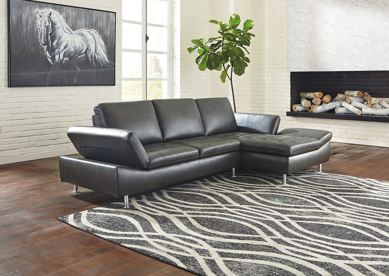 Carrnew Gray Left-Arm Facing Sofa Chaise,Signature Design By Ashley