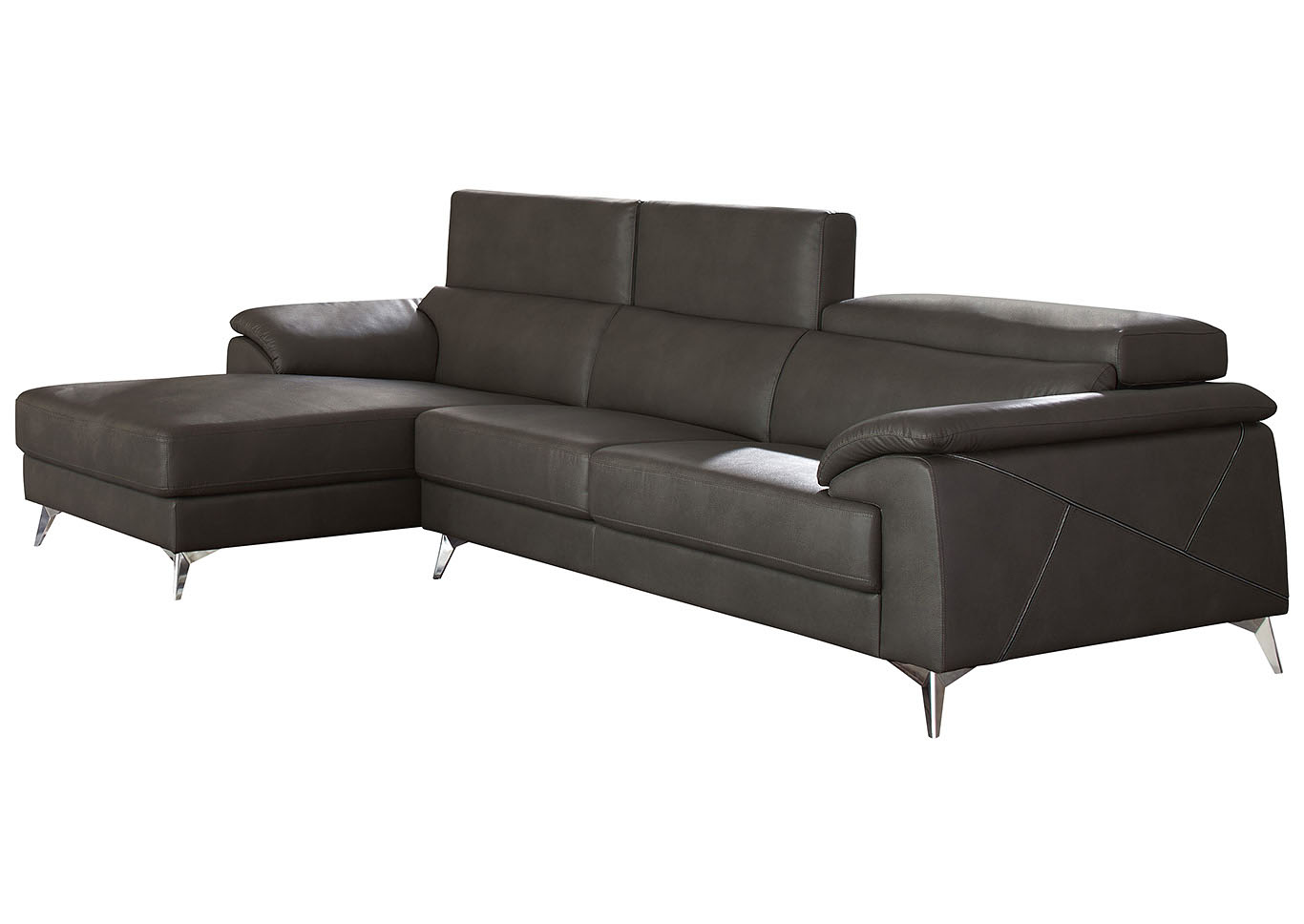 Tindell Gray Right Facing Loveseat Chaise Sectional,Signature Design By Ashley