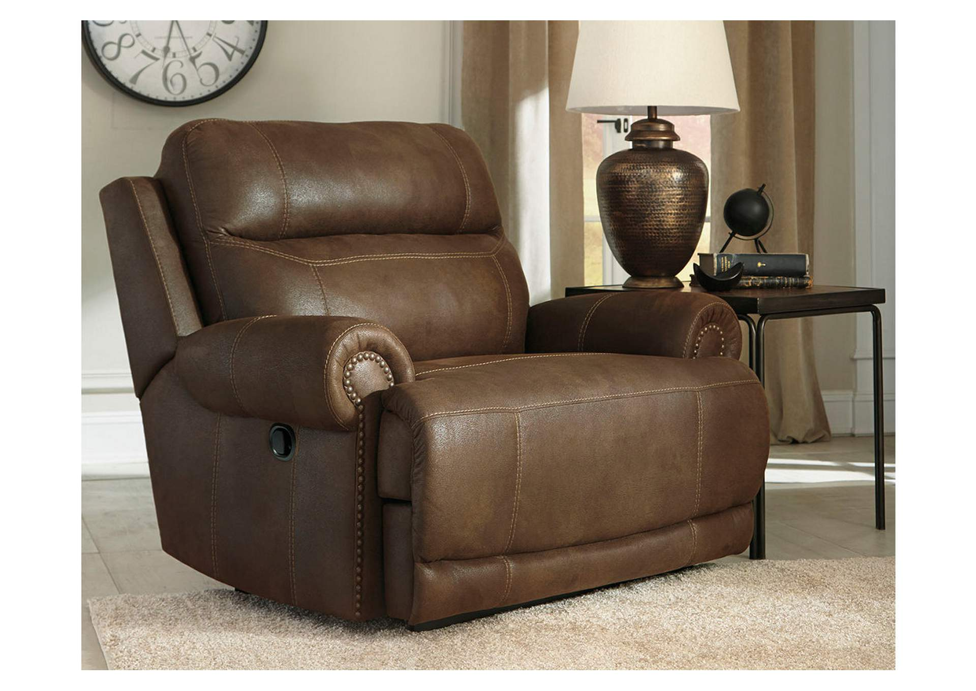 Austere Brown Zero Wall Recliner,Signature Design By Ashley