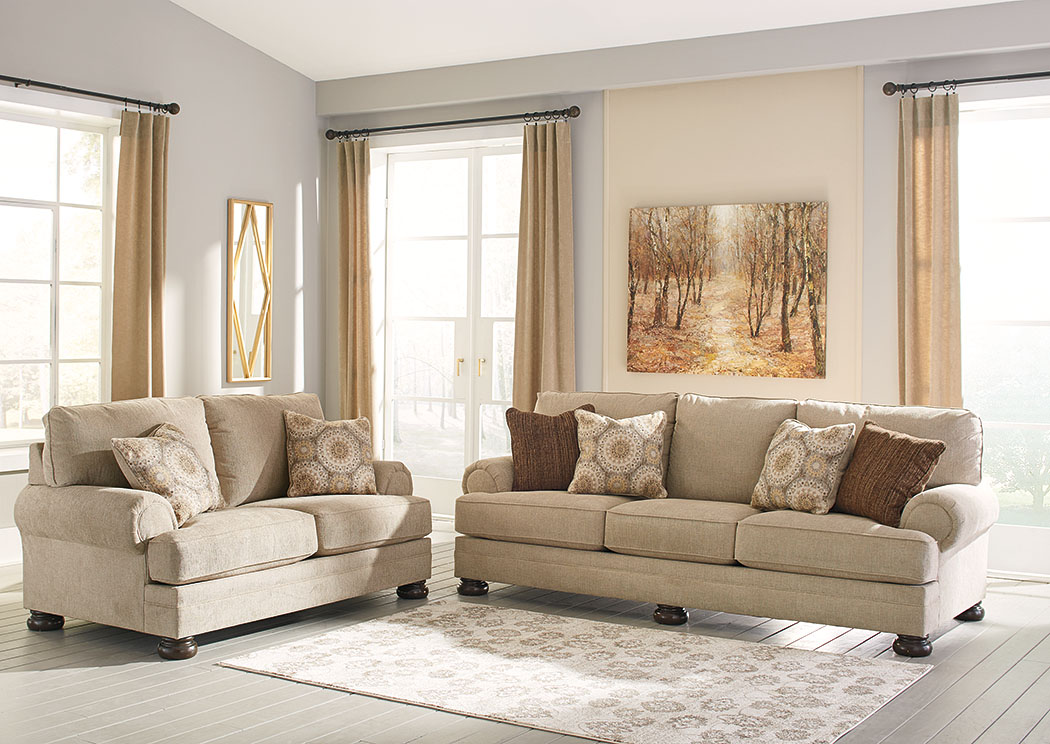 Quarry Hill Quartz Sofa and Loveseat,Benchcraft