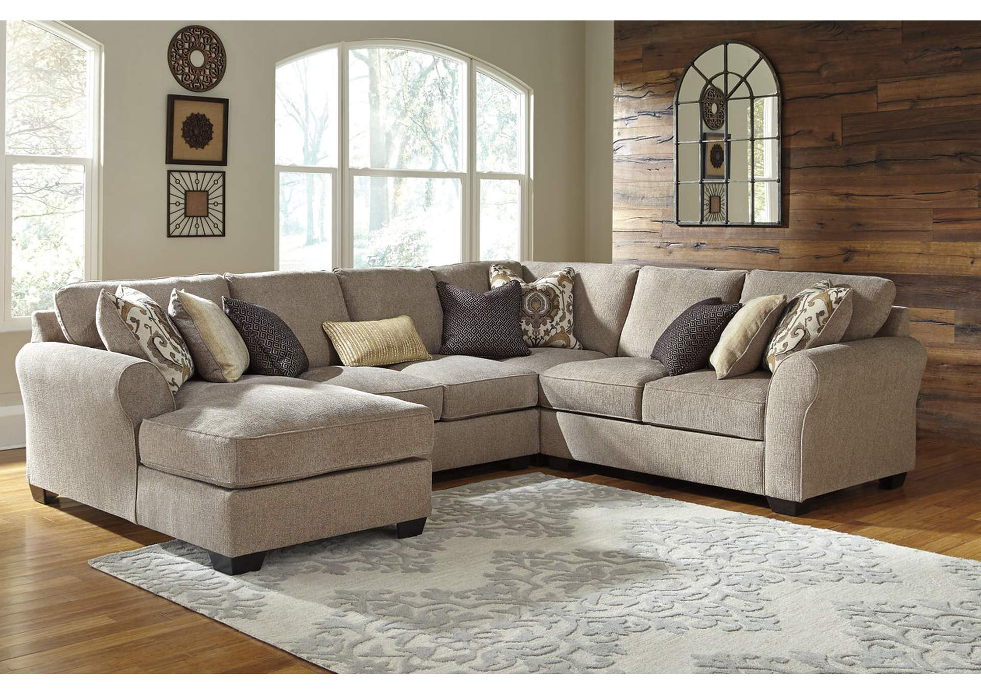 Pantomine Driftwood Laf Chaise Sectional The Furniture Shop Duncanville Tx
