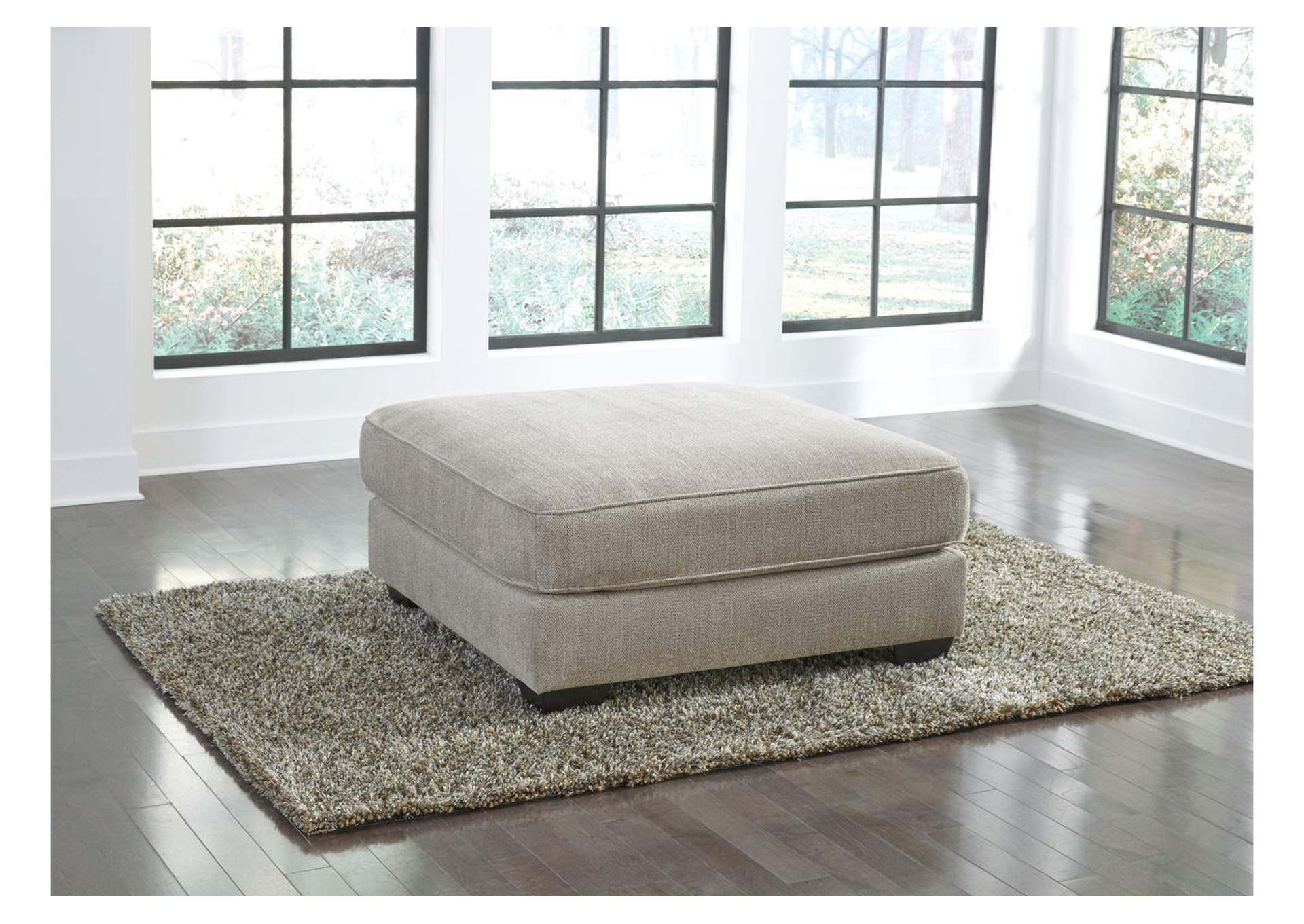 Ardsley Pewter Oversized Accent Ottoman,Signature Design By Ashley