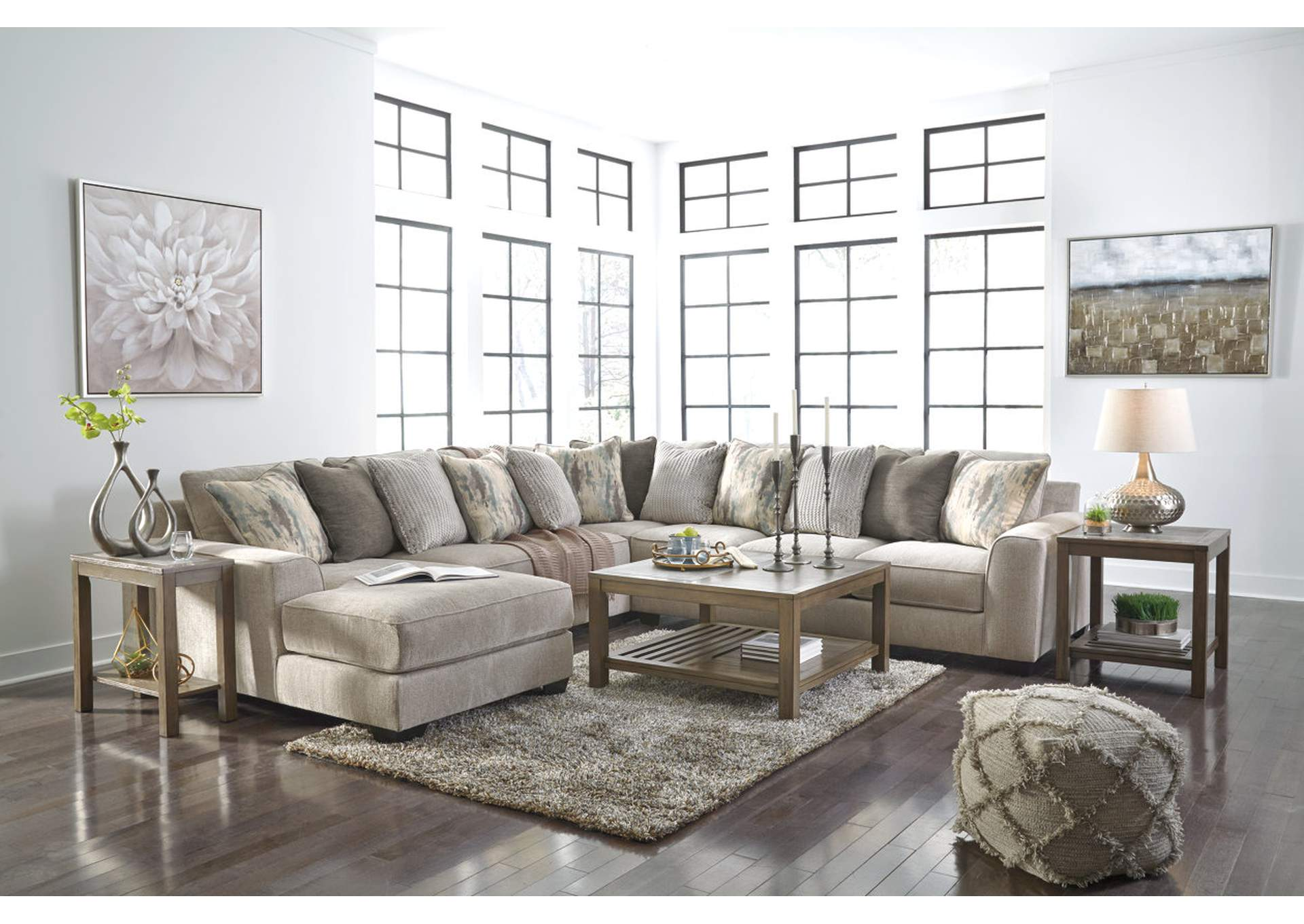 Ardsley Pewter LAF Chaise Sectional,Benchcraft