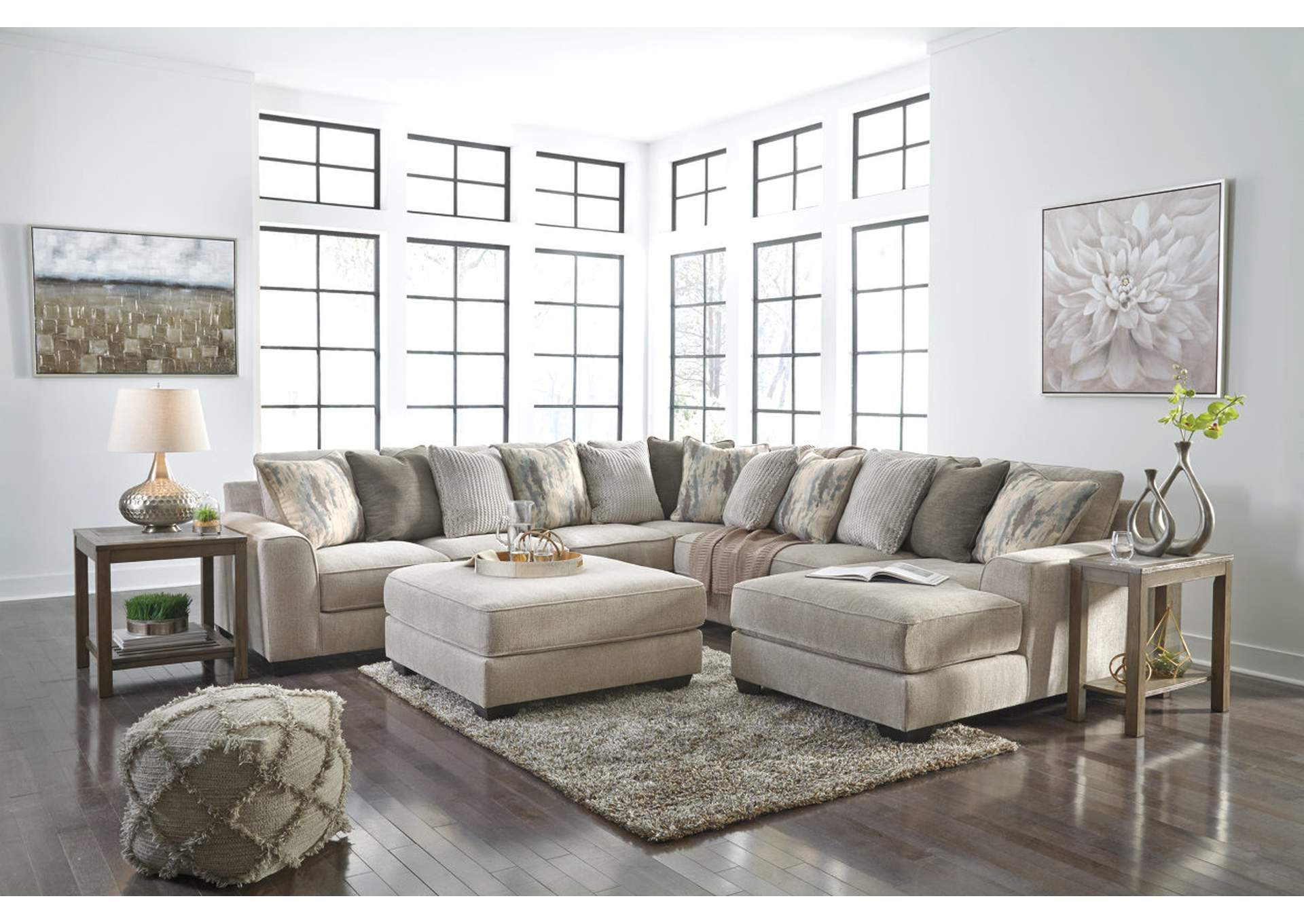 Ardsley Pewter RAF Chaise Sectional,Signature Design By Ashley