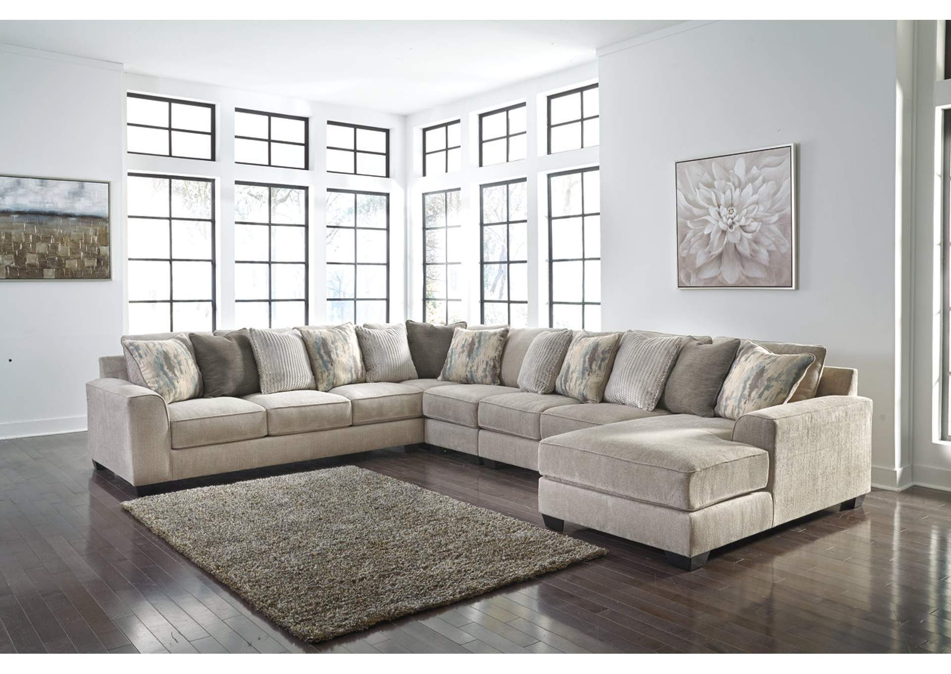 Ardsley Pewter RAF Chaise Sectional,Benchcraft