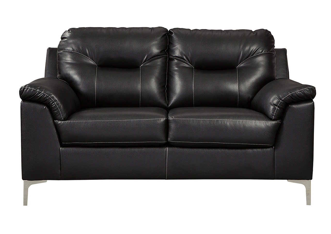 Tensas Black Loveseat,Signature Design By Ashley