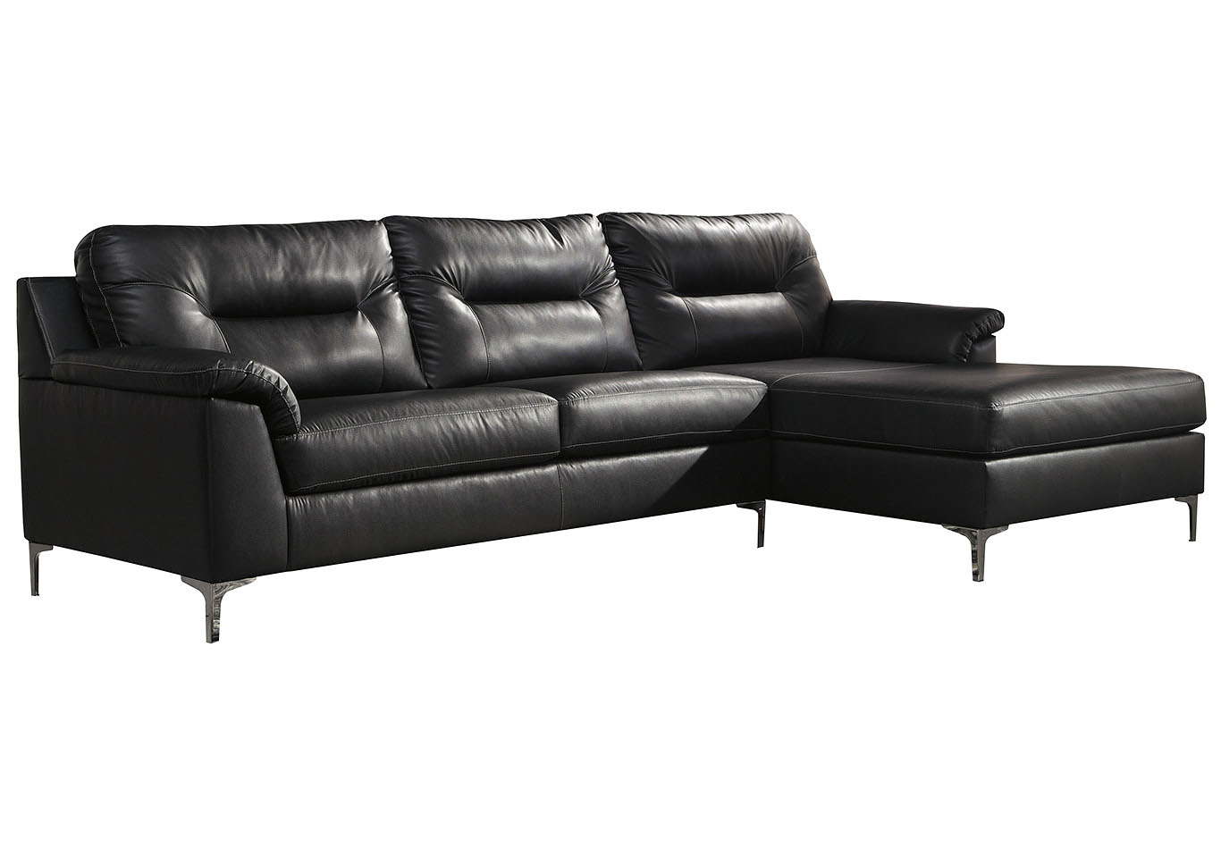Tensas Black Right Arm Facing Sectional,Signature Design By Ashley
