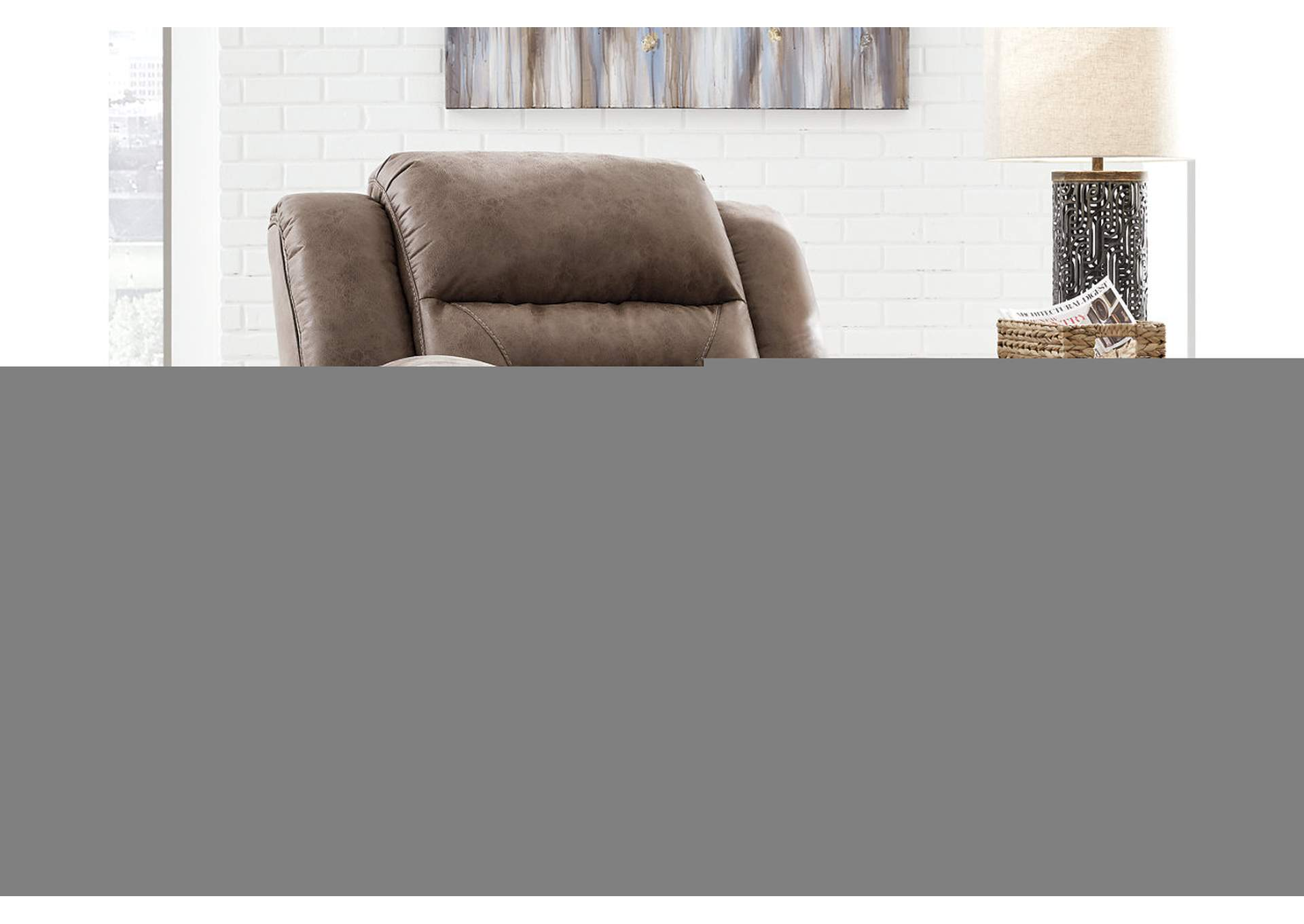 Stoneland Fossil Recliner,Signature Design By Ashley