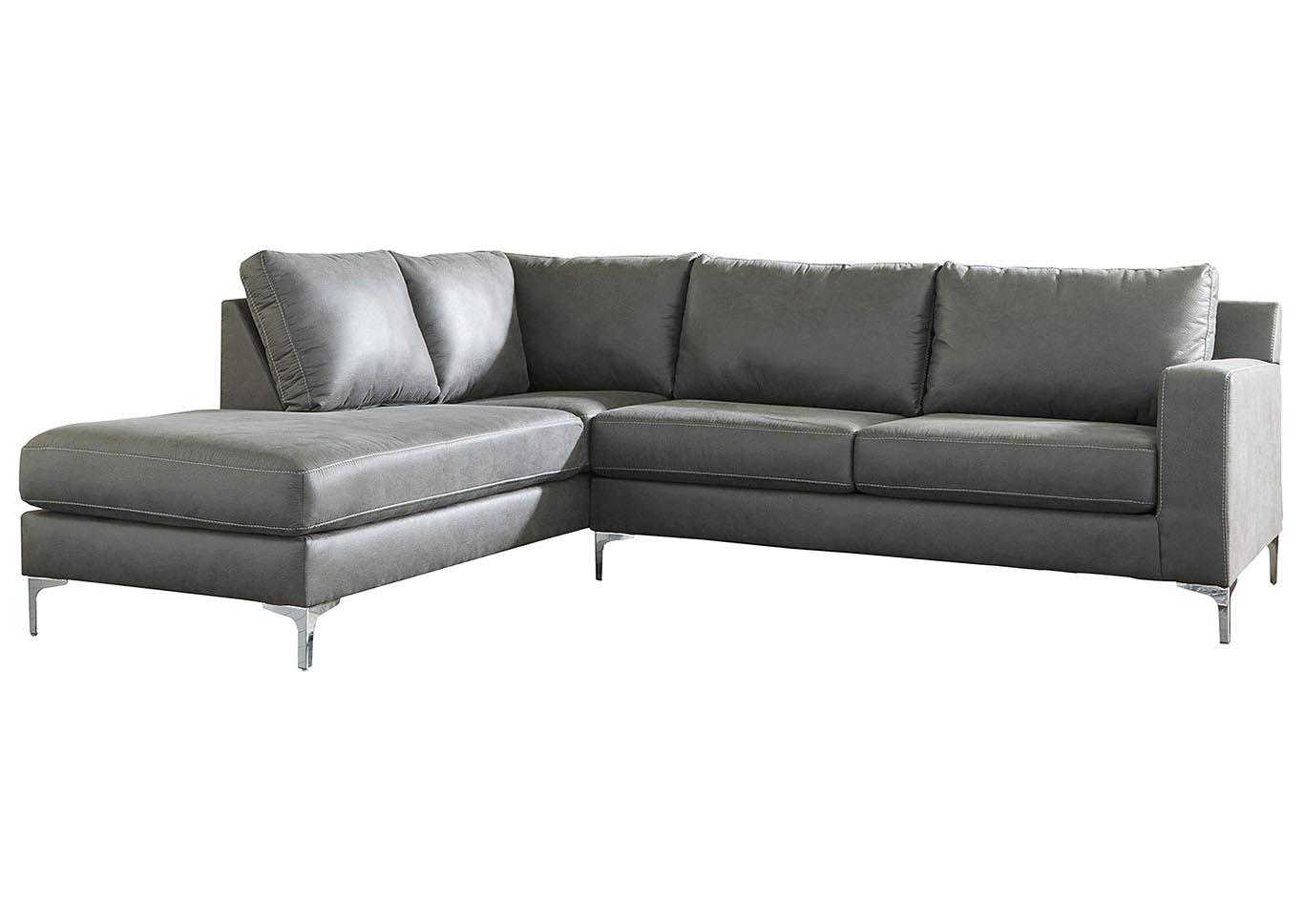 Tremendous Oak Furniture Liquidators Ryler Charcoal Laf Sofa Chaise Machost Co Dining Chair Design Ideas Machostcouk