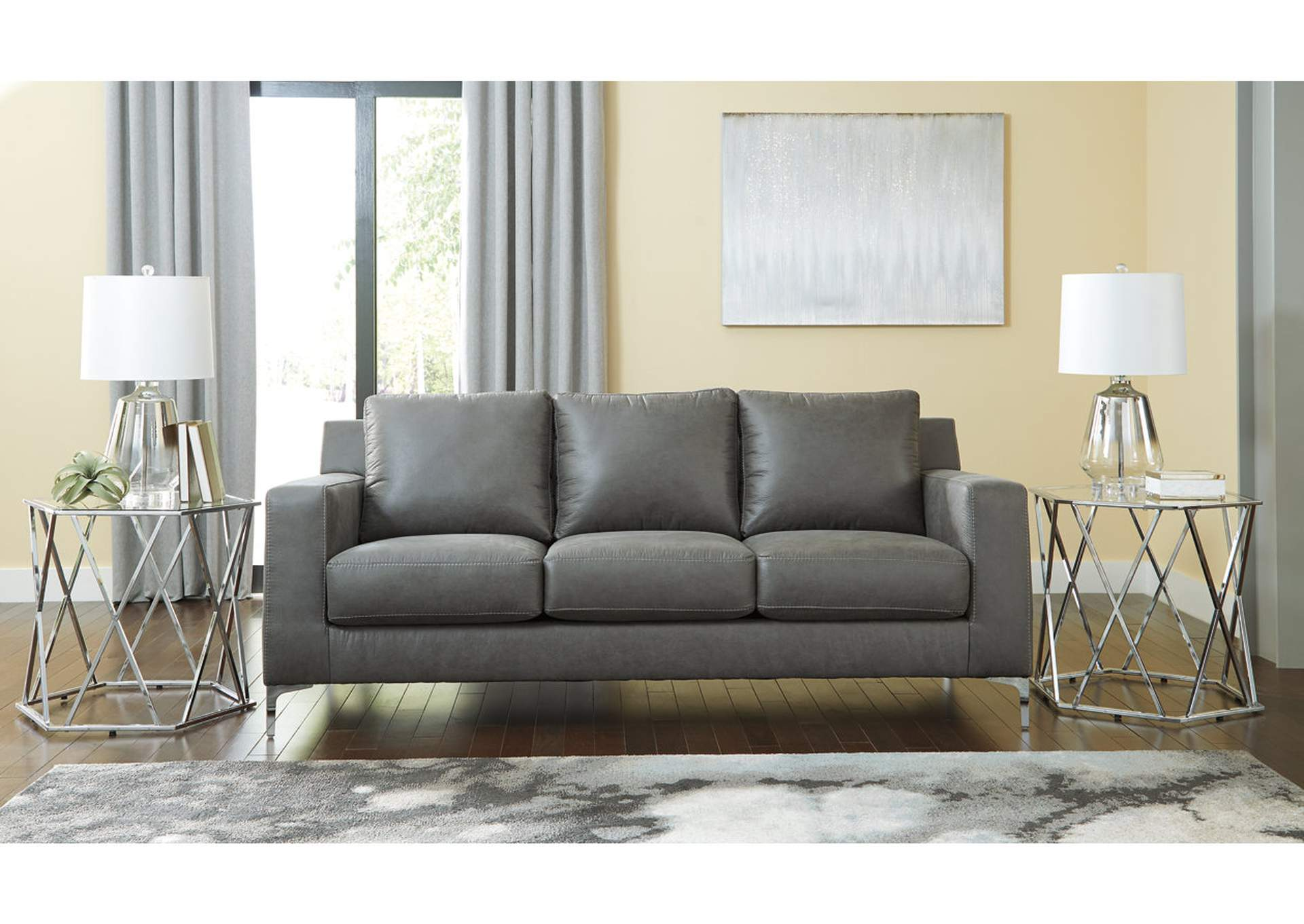 Ryler Charcoal Sofa Gibson Furniture - Gallatin, Hendersonville