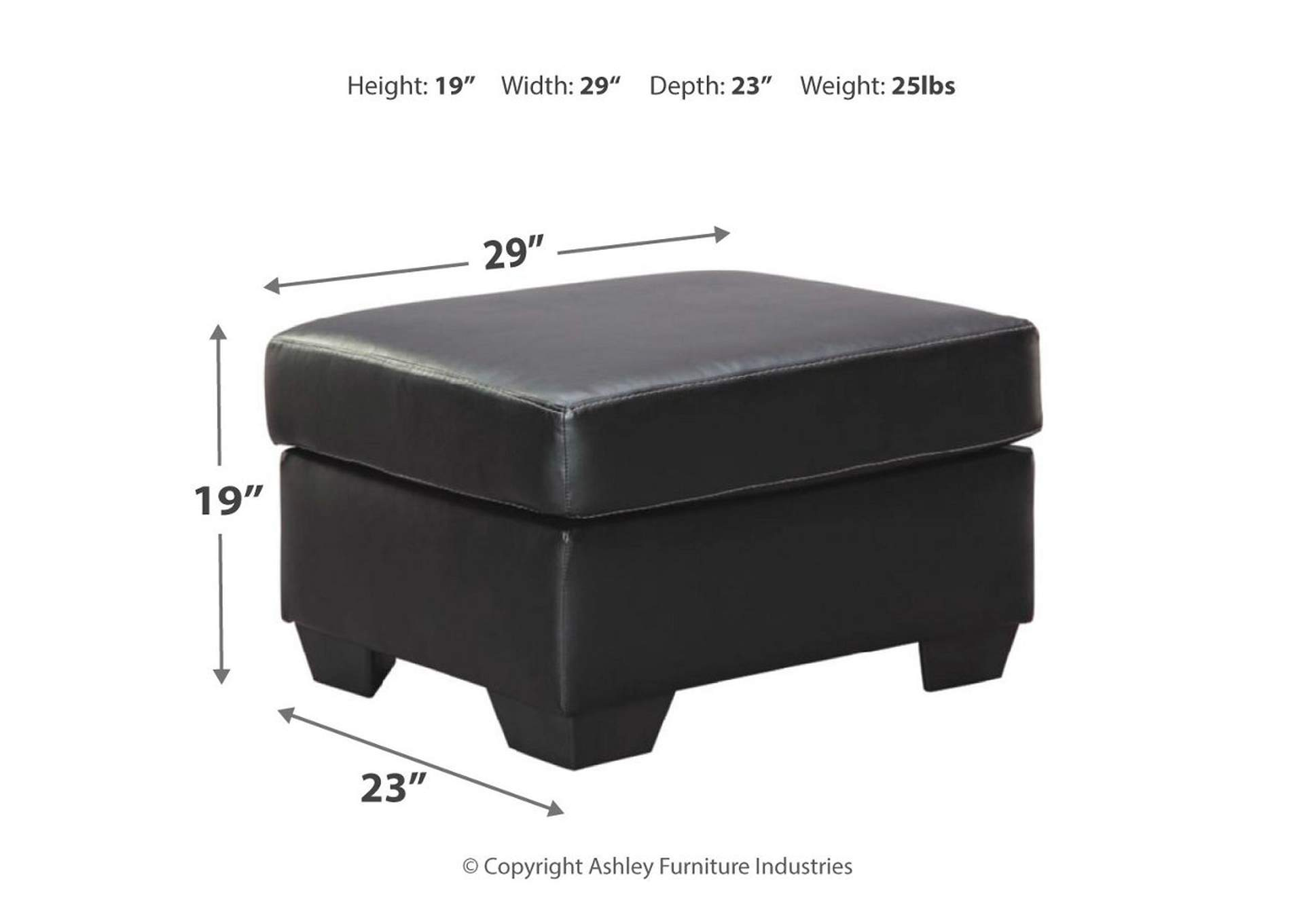 Bertrillo Black Ottoman,Signature Design By Ashley