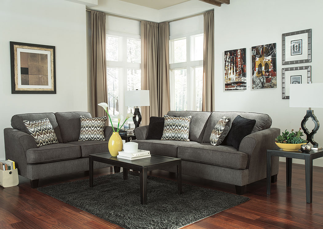 Gayler Steel Sofa & Loveseat,Benchcraft