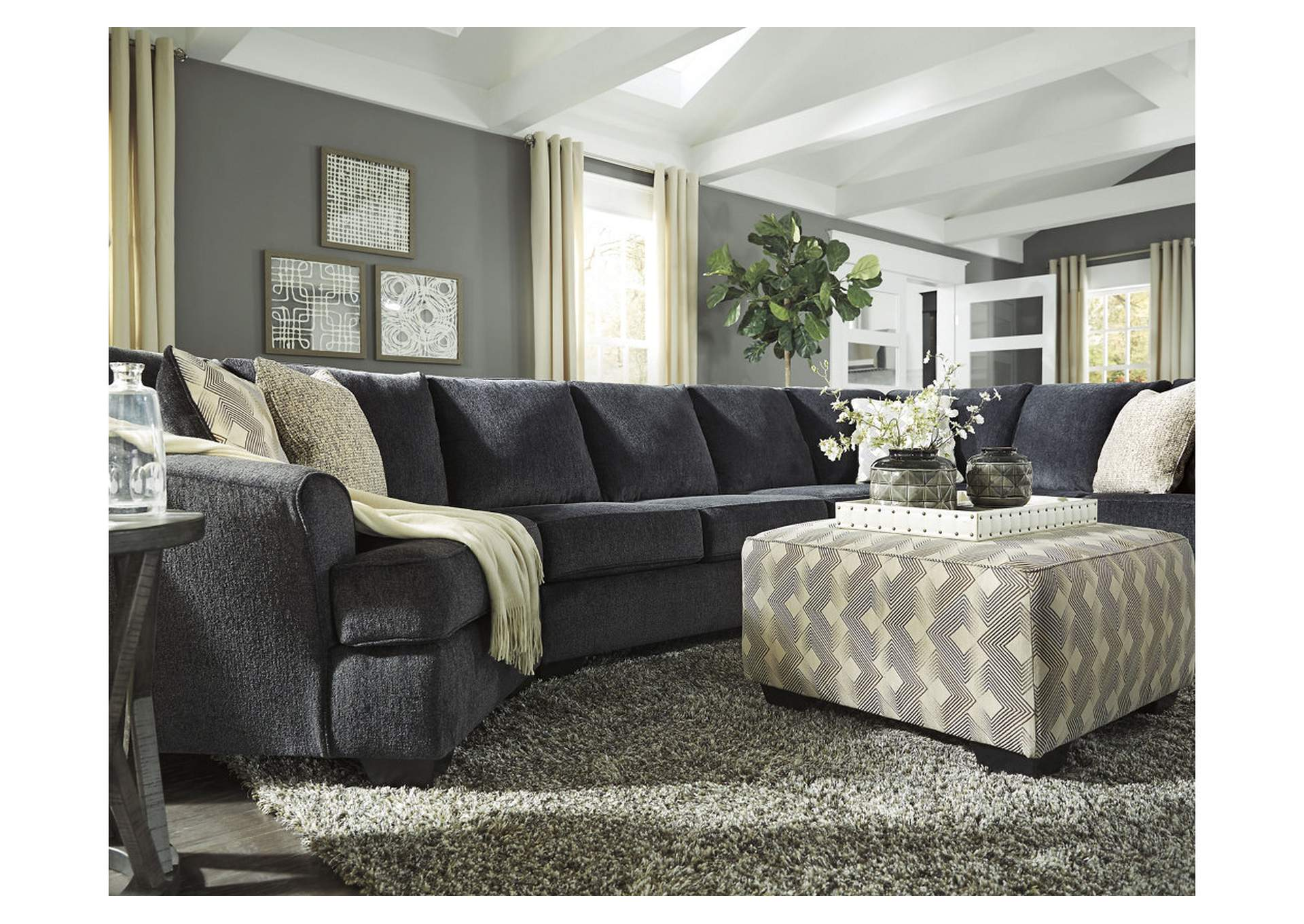 Eltmann Slate Oversized Ottoman,Signature Design By Ashley