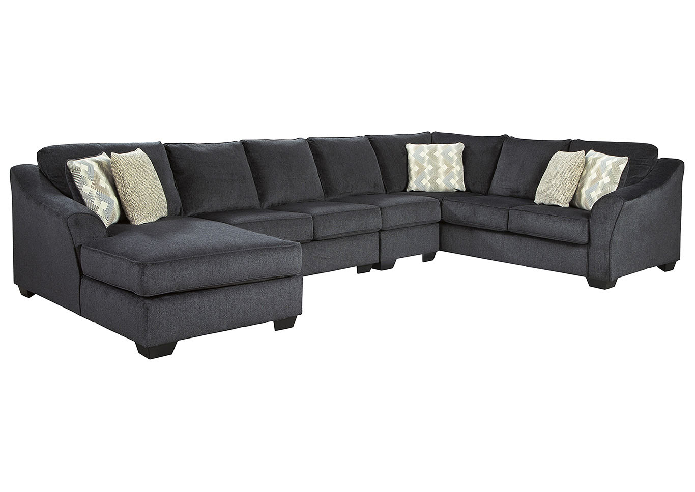 Eltmann Slate LAF Chaise Extended Sectional,Signature Design By Ashley