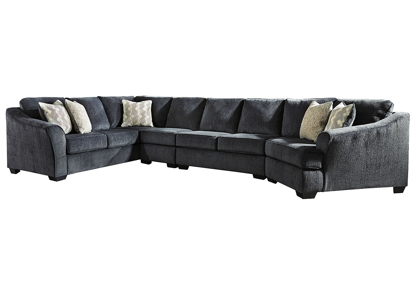 Eltmann Slate 4 Piece Sectional w/LAF Sofa & Corner Wedge,Signature Design By Ashley