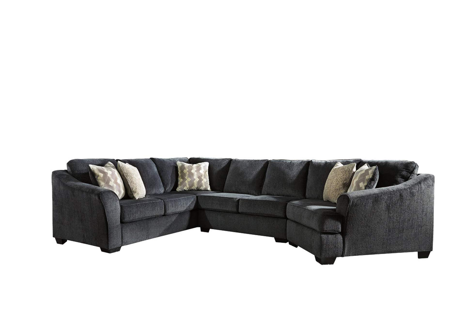 Charmant Eltmann Slate 3 Piece Sectional W/RAF Cuddler,Signature Design By Ashley