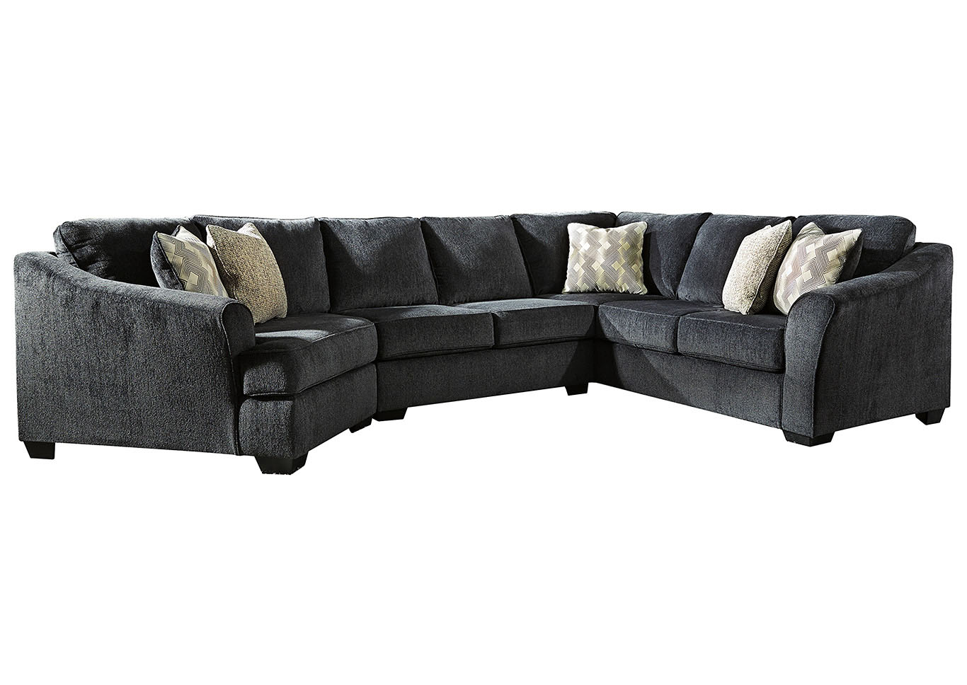 Eltmann Slate 3 Piece Sectional w/LAF Cuddler,Signature Design By Ashley