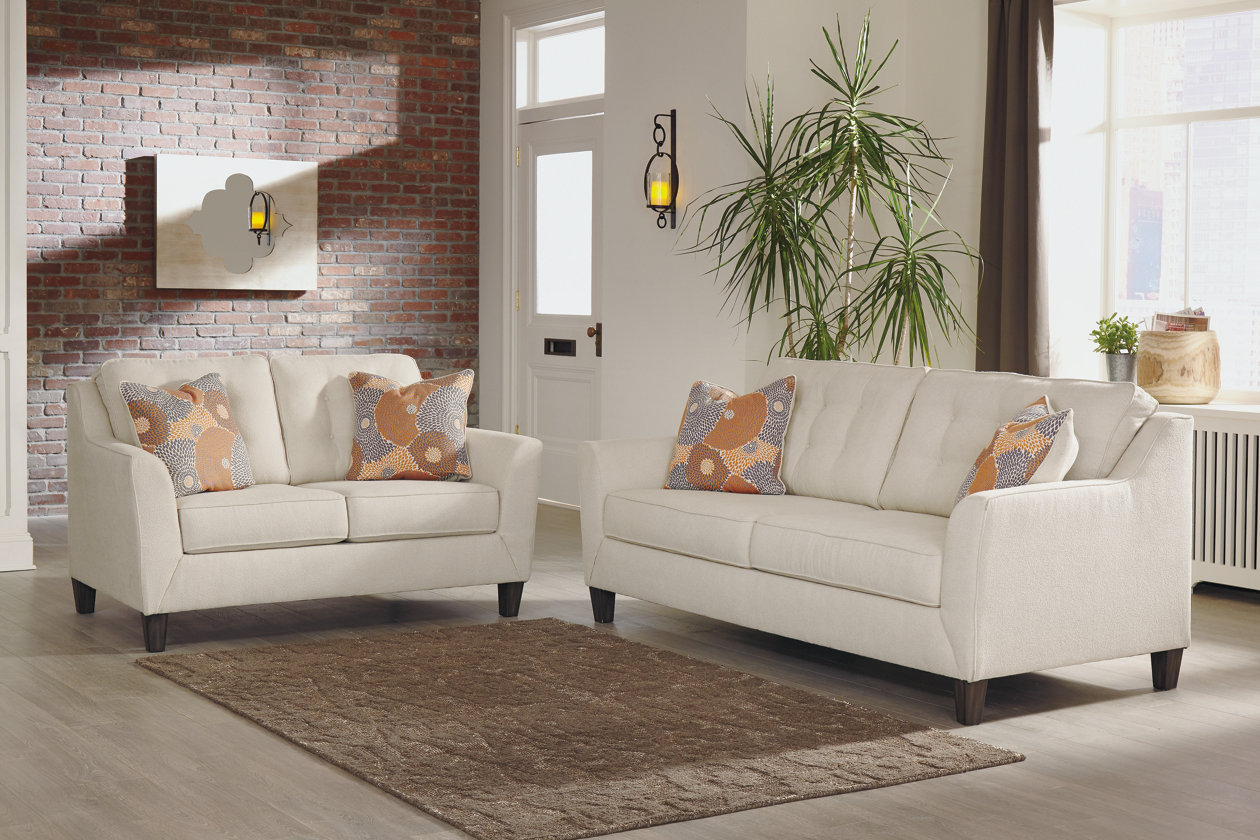 Benissa Alabaster Fabric Sofa and Loveseat,Signature Design By Ashley