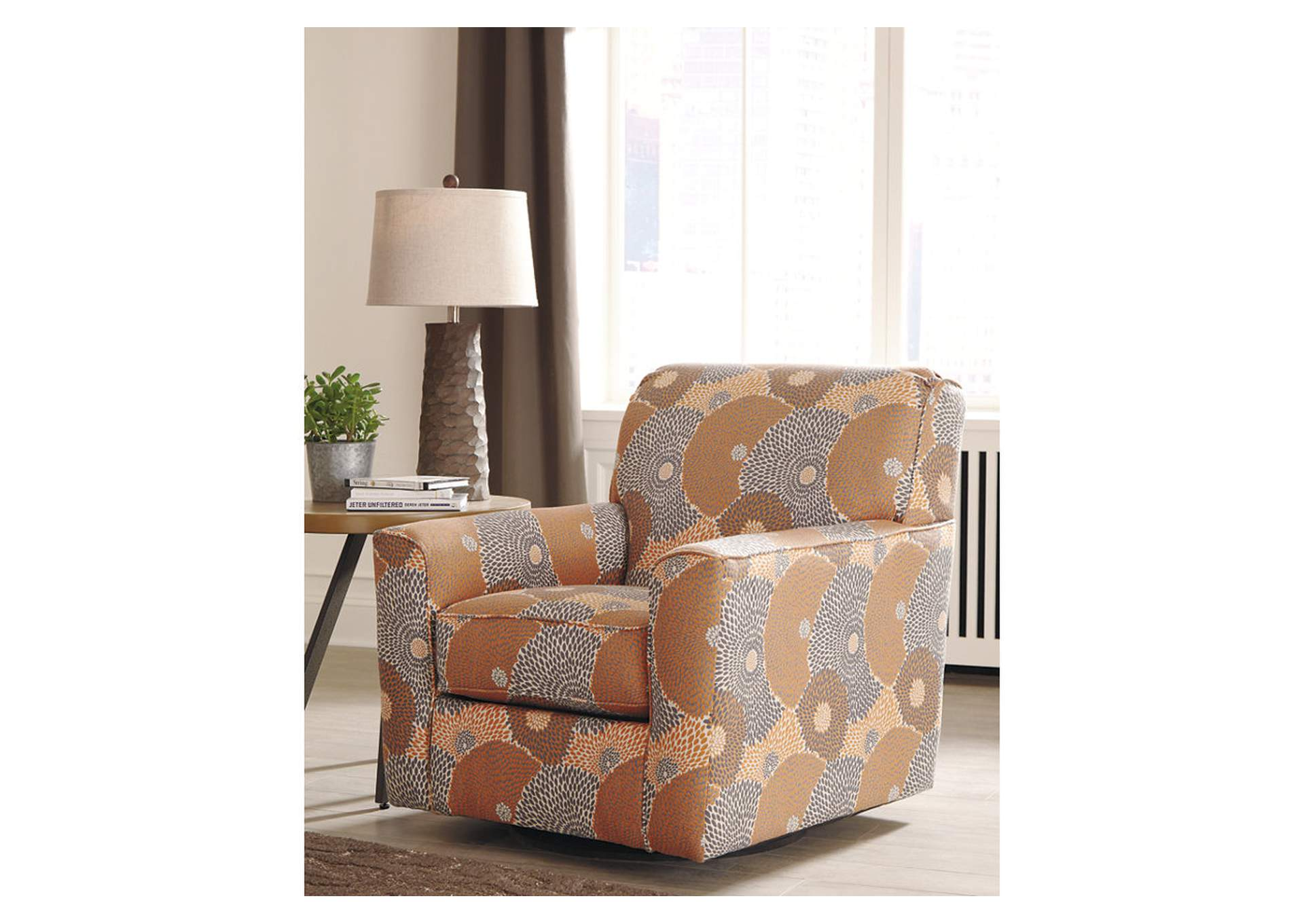 Benissa Mango Swivel Accent Chair,Signature Design By Ashley