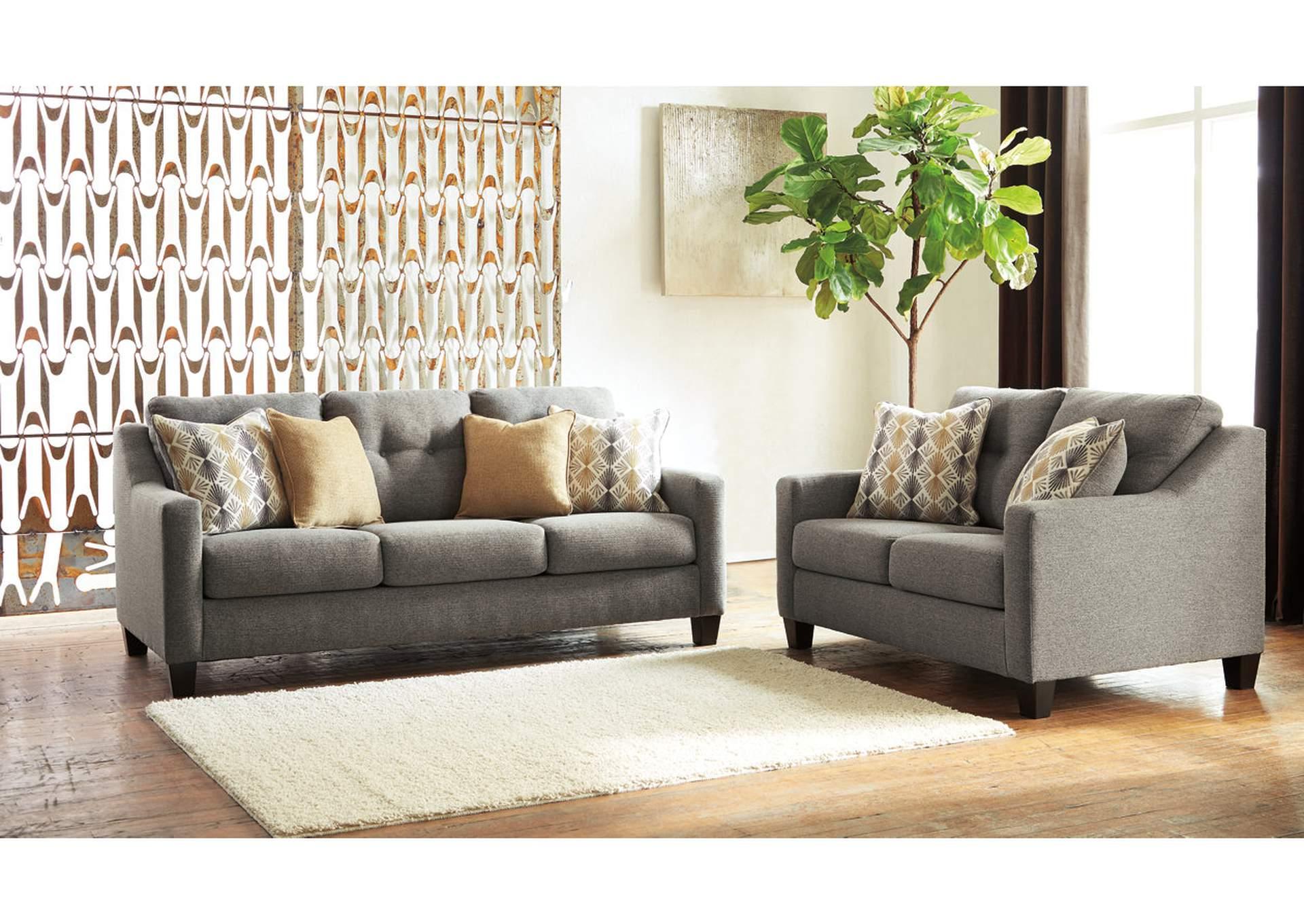Daylon Graphite Sofa U0026 Loveseat,Benchcraft