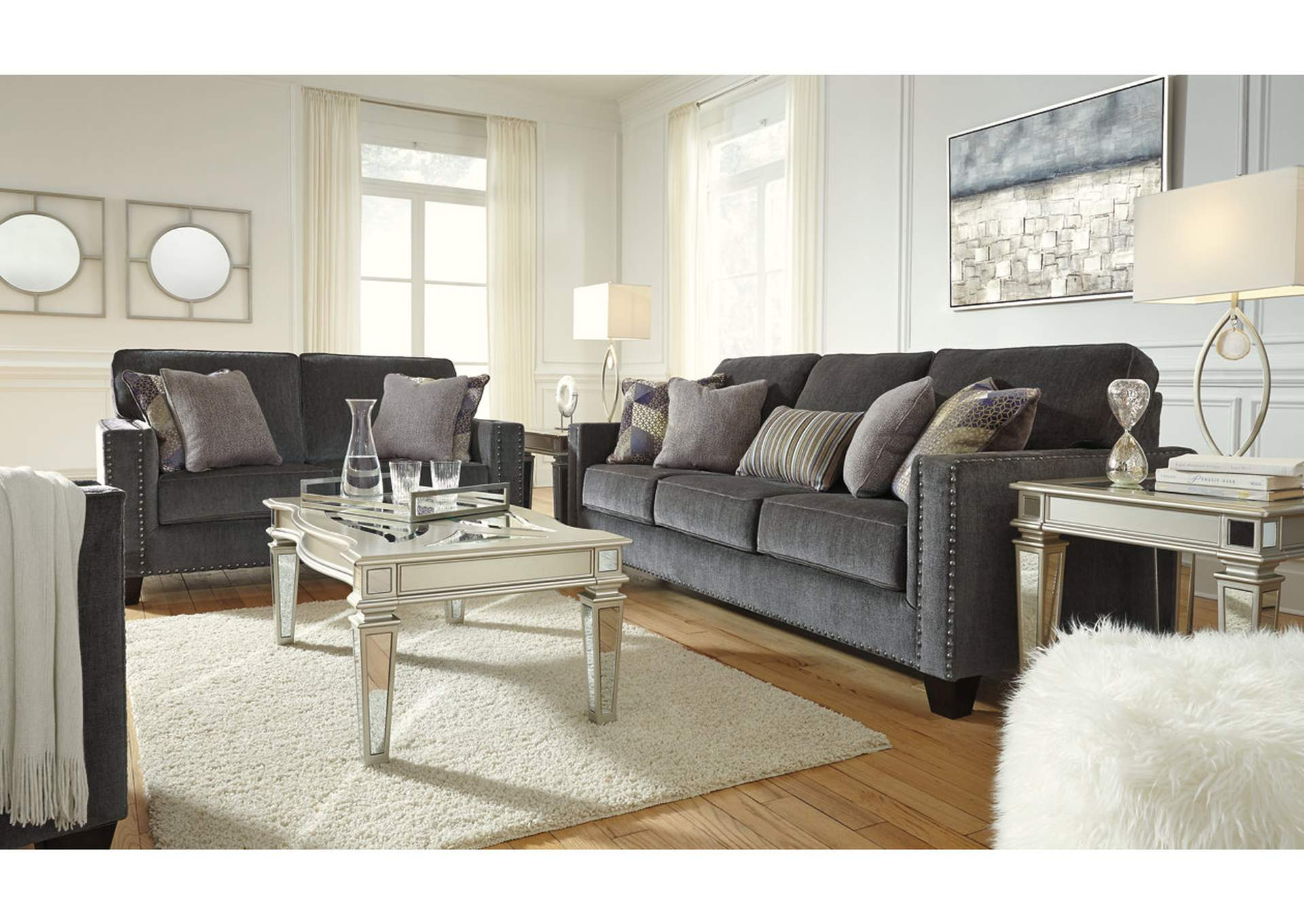 Gavril Smoke Loveseat,Signature Design By Ashley