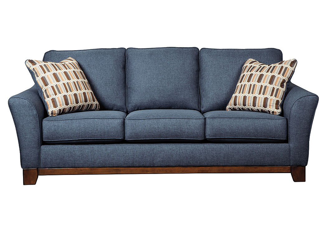 Furniture liquidators home center janley denim sofa for Furniture liquidators