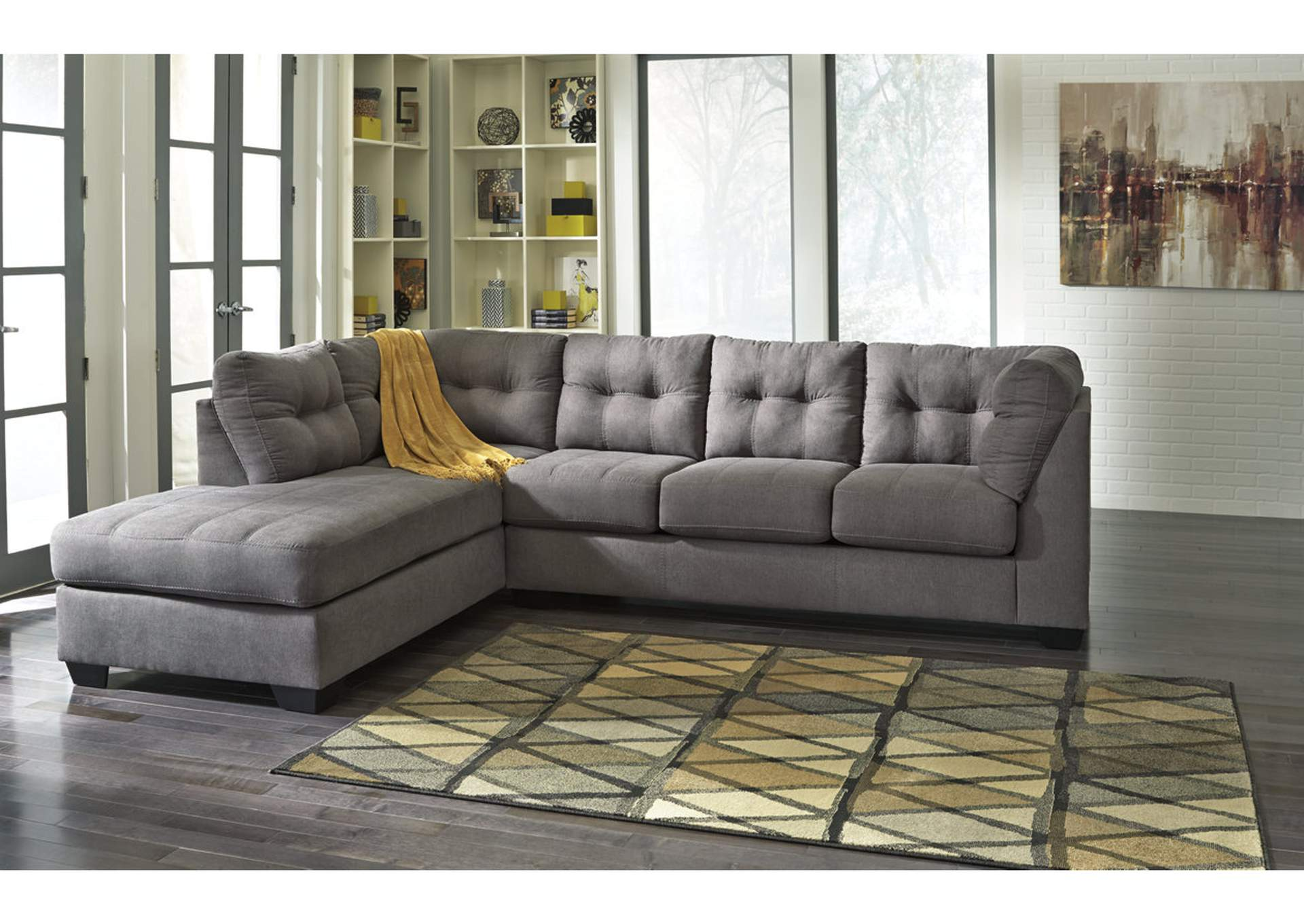 Marvelous Maier Charcoal Left Arm Facing Chaise End Sectional