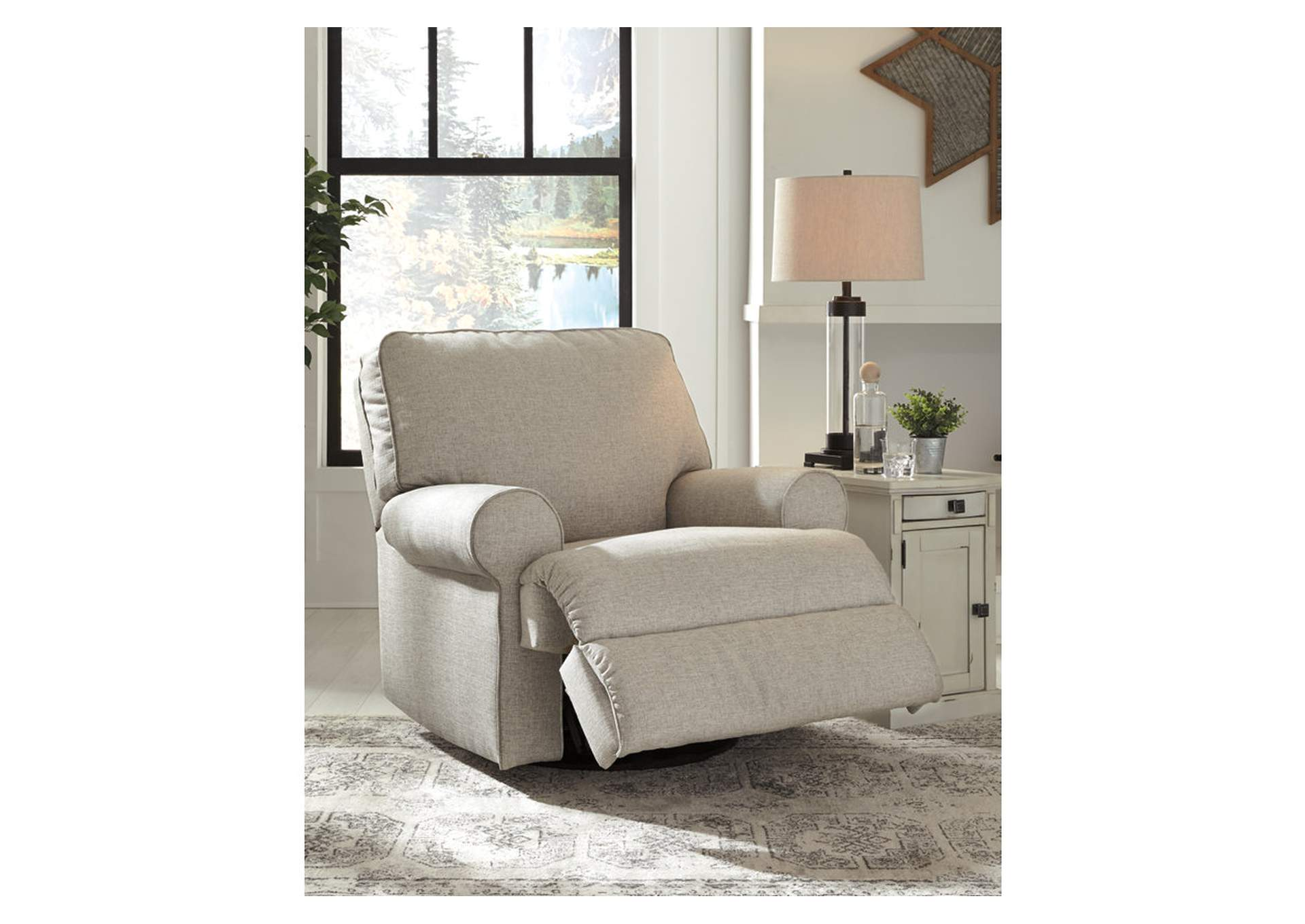 Ferncliff Sepia Swivel Glider Recliner,Signature Design By Ashley