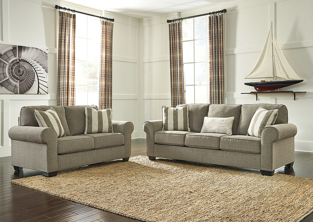 Baveria Fog Sofa & Loveseat,Signature Design By Ashley